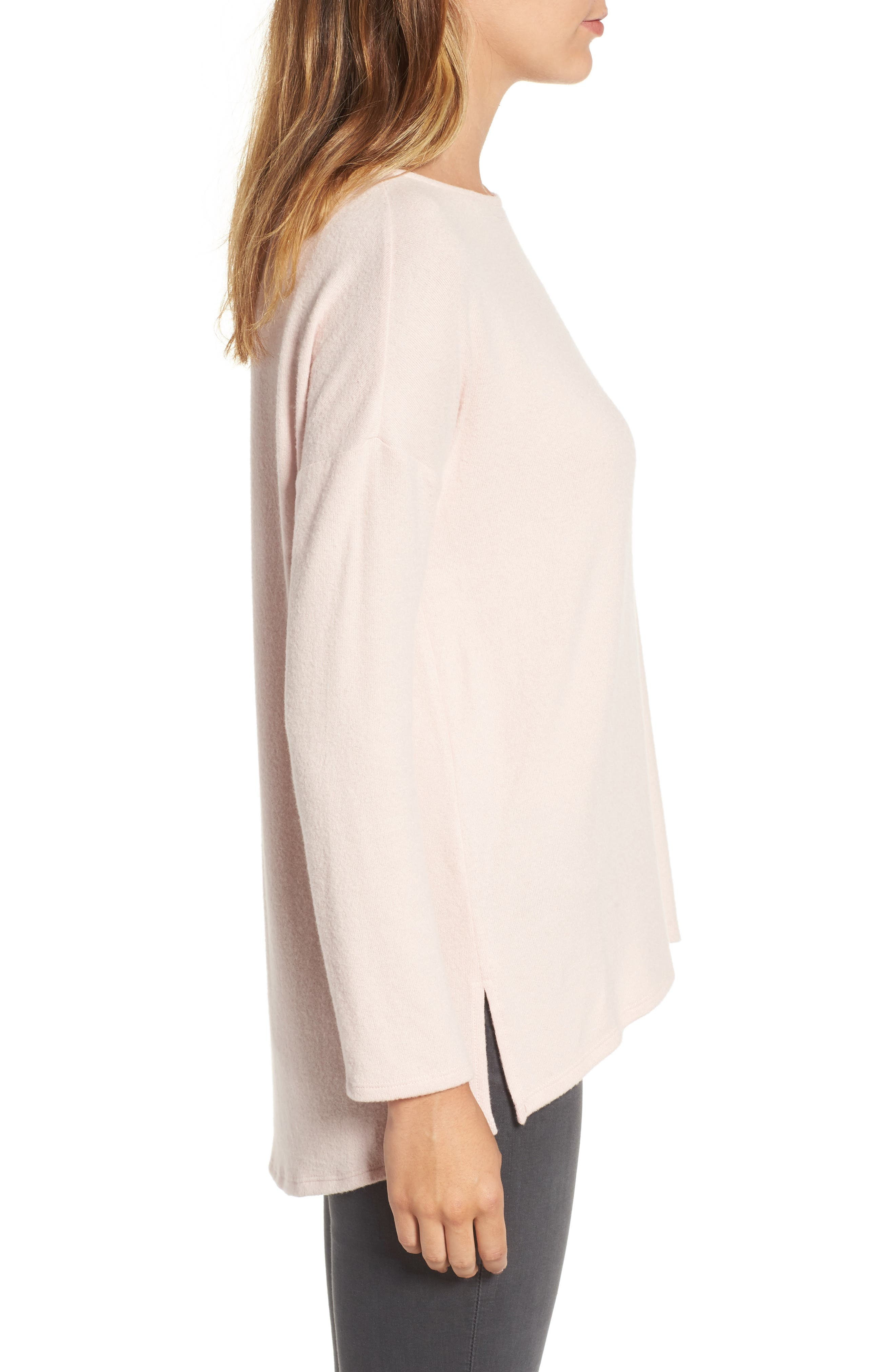 Cozy Ballet Neck High/Low Pullover,                             Alternate thumbnail 41, color,