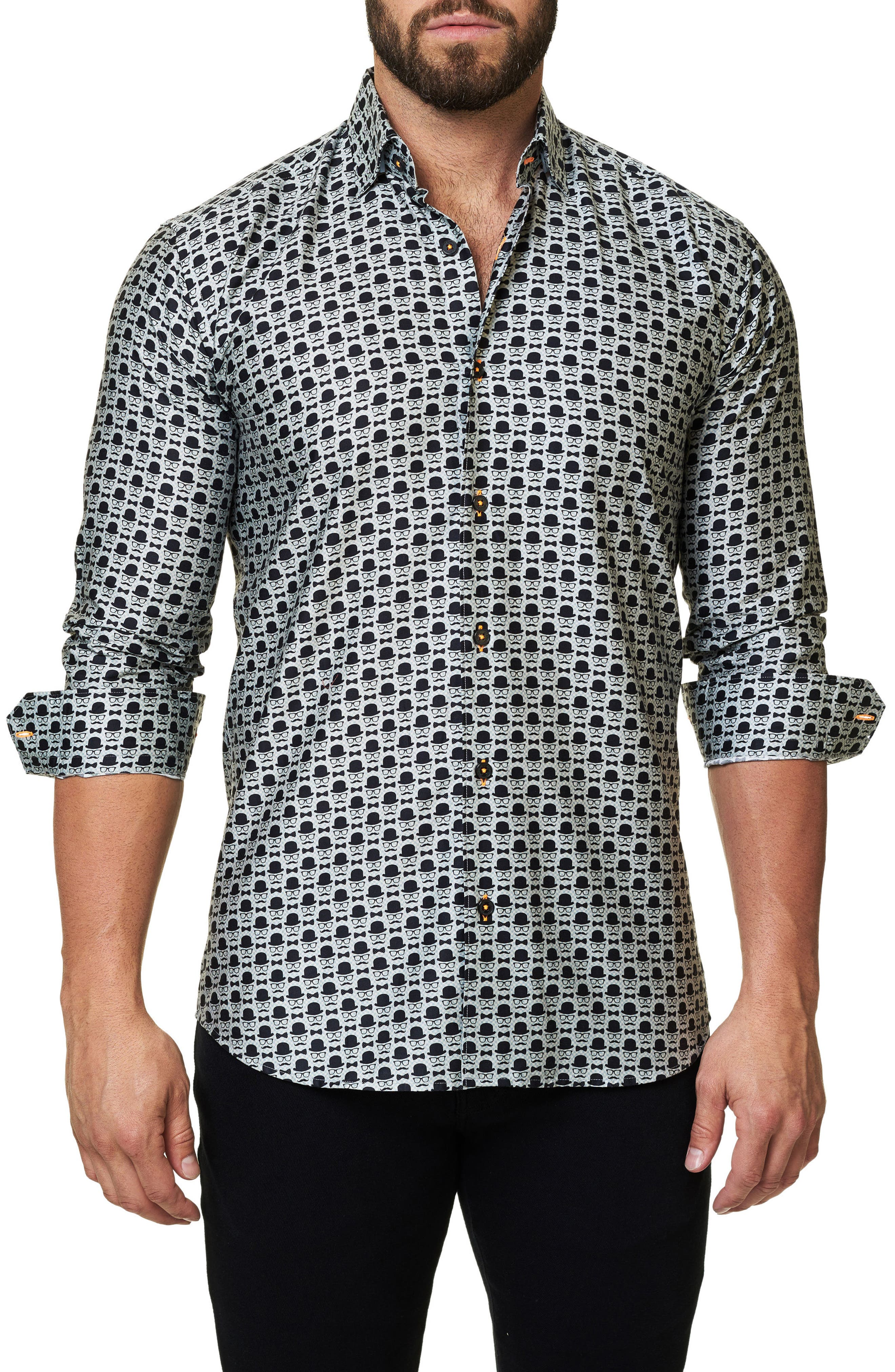 Regular Fit Print Sport Shirt,                             Main thumbnail 1, color,