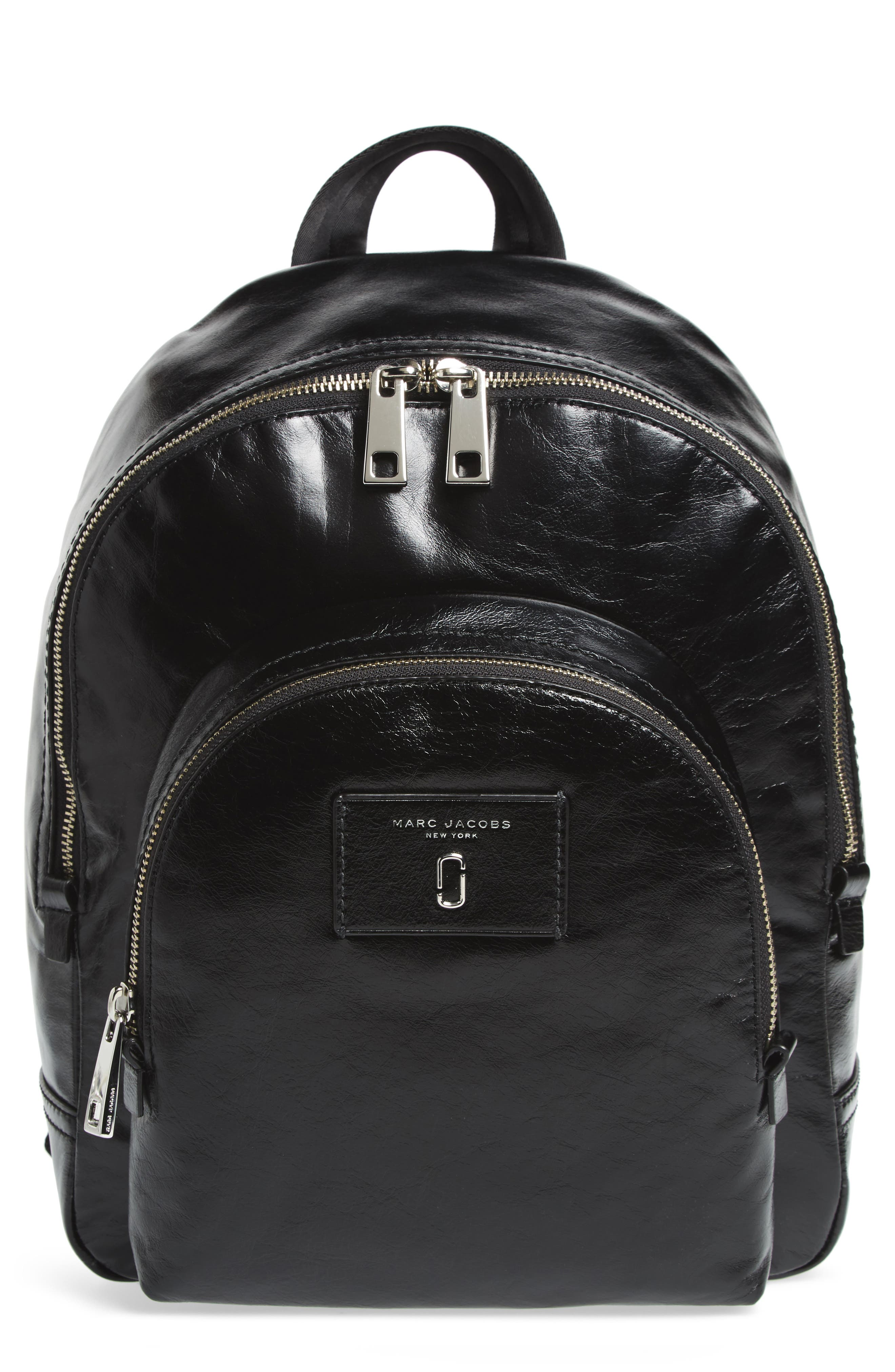 Double Pack Leather Backpack,                             Main thumbnail 1, color,
