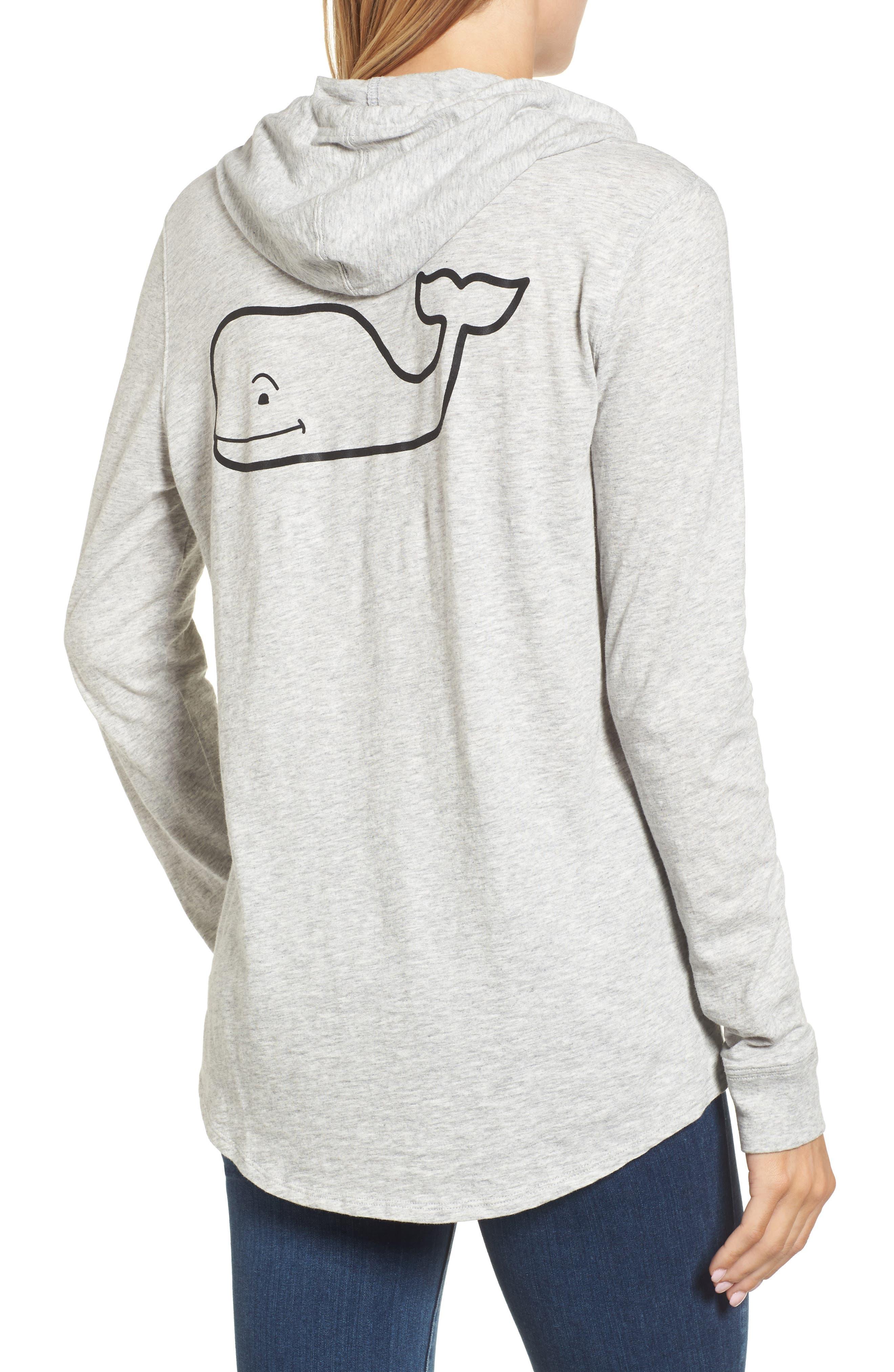 Long Sleeve Slub Whale Hoodie,                             Alternate thumbnail 2, color,                             063