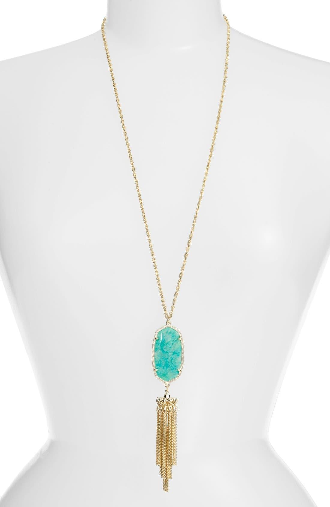 'Rayne' Tassel Pendant Necklace,                             Main thumbnail 11, color,