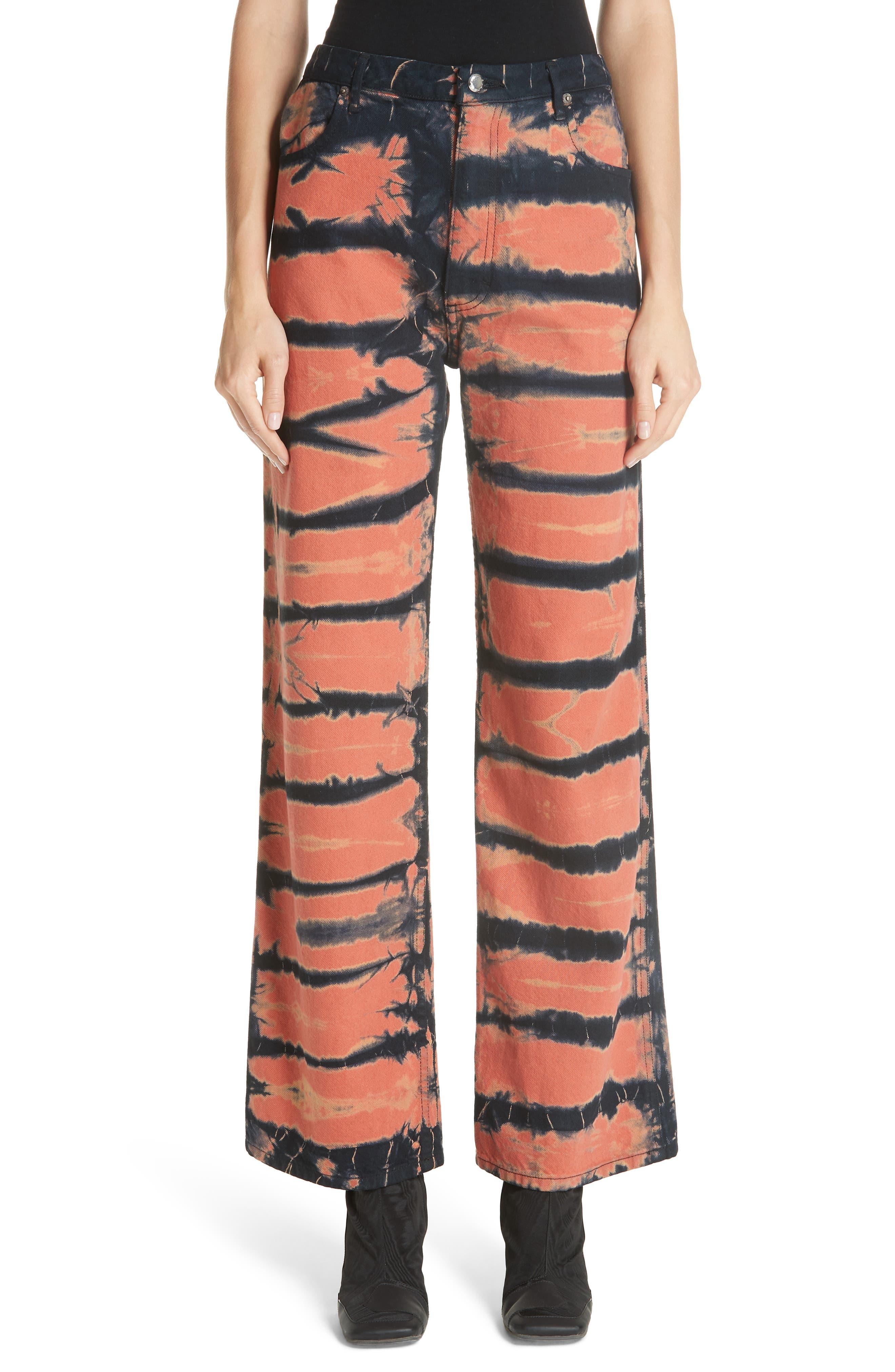 Tie Dye Wide Leg Jeans,                         Main,                         color, SHI-SHIBORI