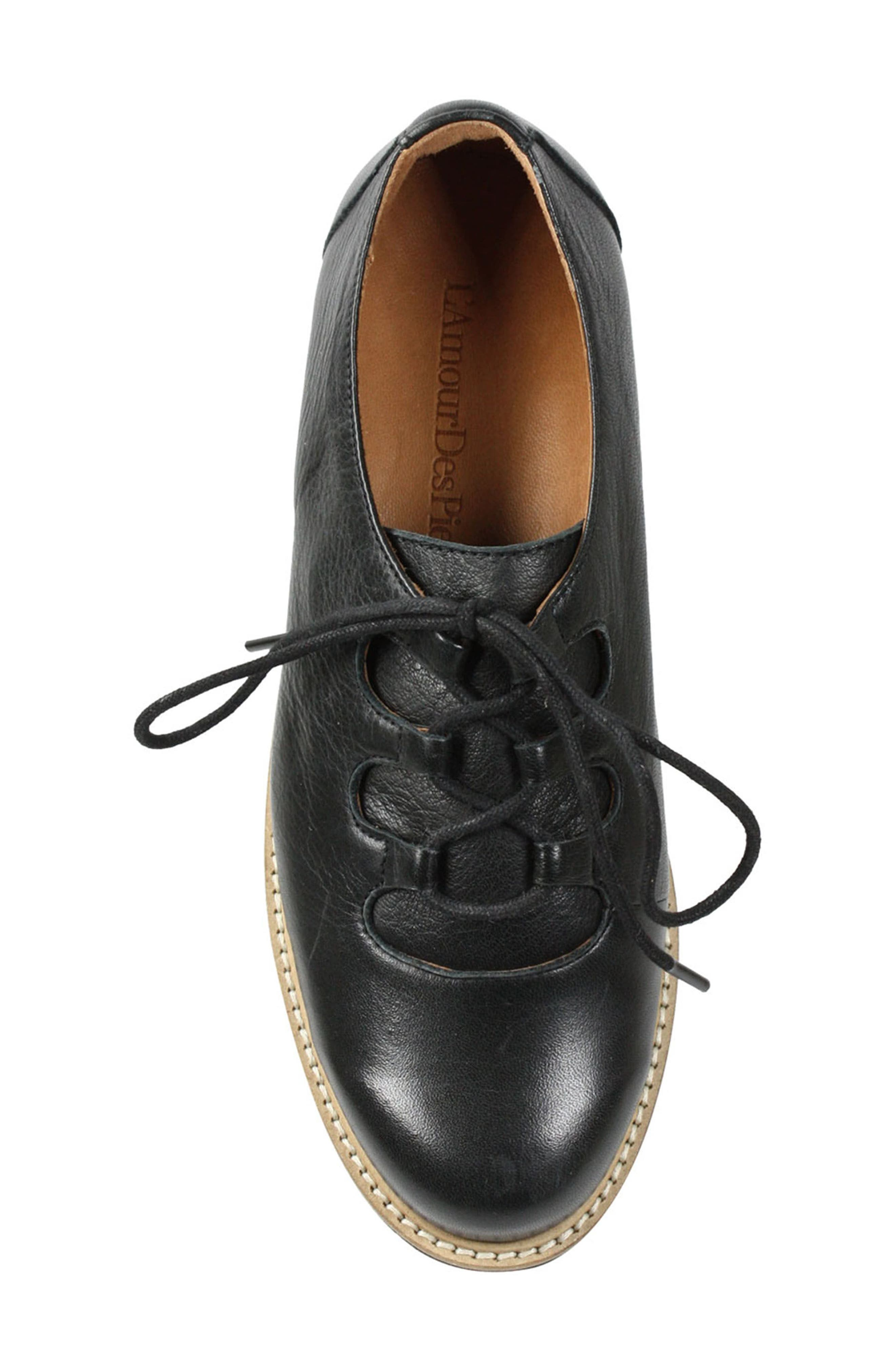 Ximena Loafer,                             Alternate thumbnail 3, color,                             BLACK LEATHER