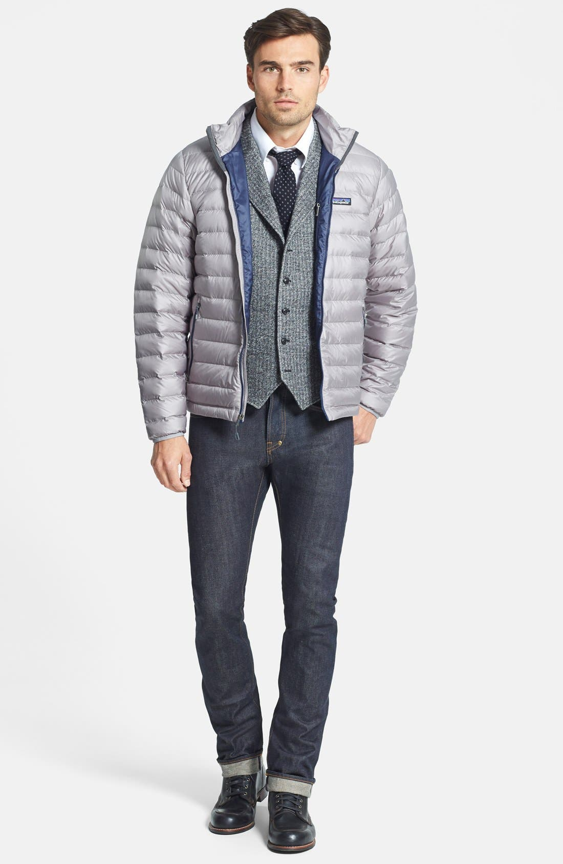 Water Repellent Down Jacket,                             Alternate thumbnail 70, color,