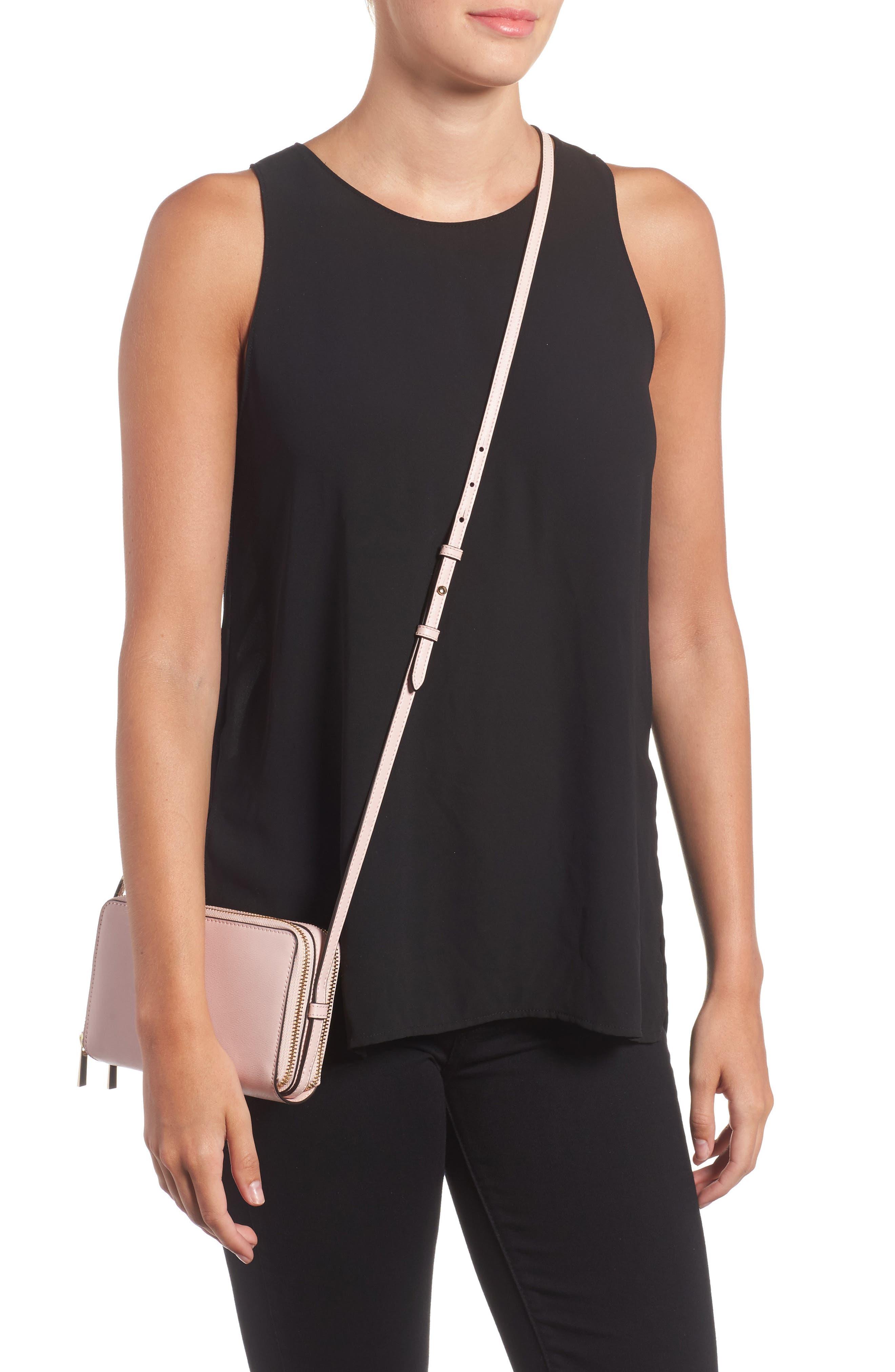Mini Parker Leather Crossbody Bag,                             Alternate thumbnail 6, color,