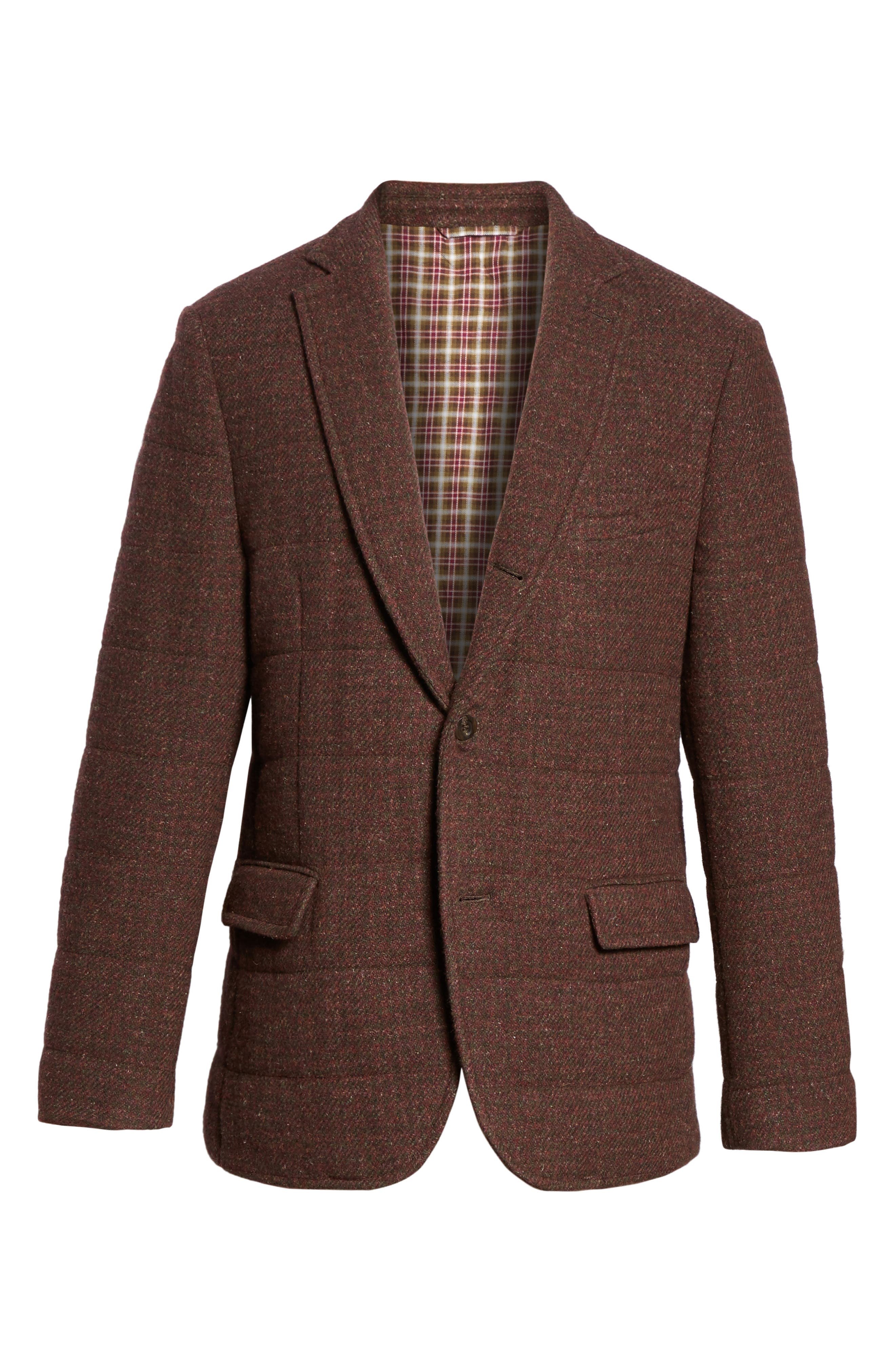 Quilted Wool Blend Hybrid Coat,                             Alternate thumbnail 5, color,                             220