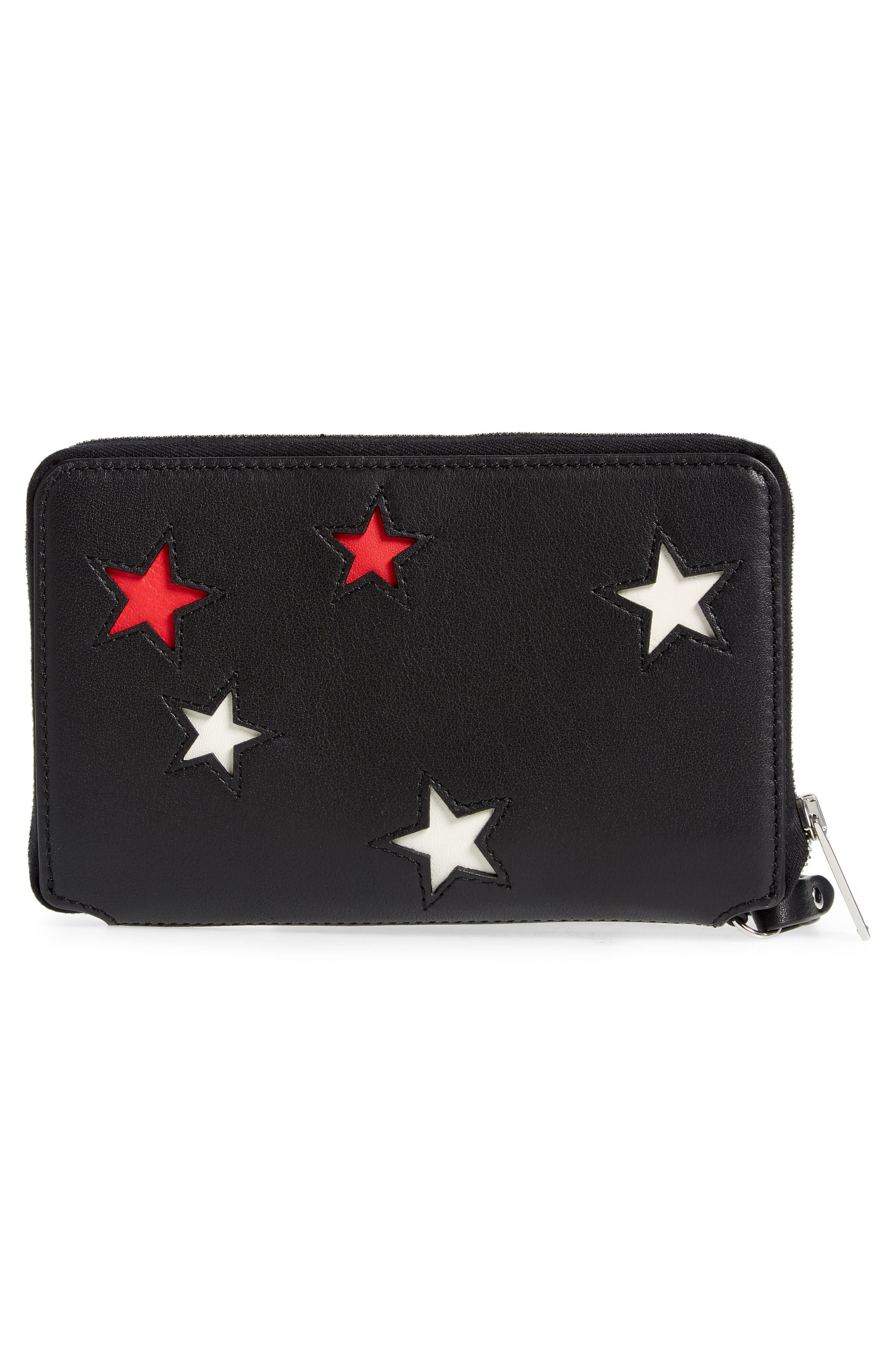 Croc Stars Leather iPhone 6/7/8 & X Wallet,                             Alternate thumbnail 3, color,                             STAR MULTI