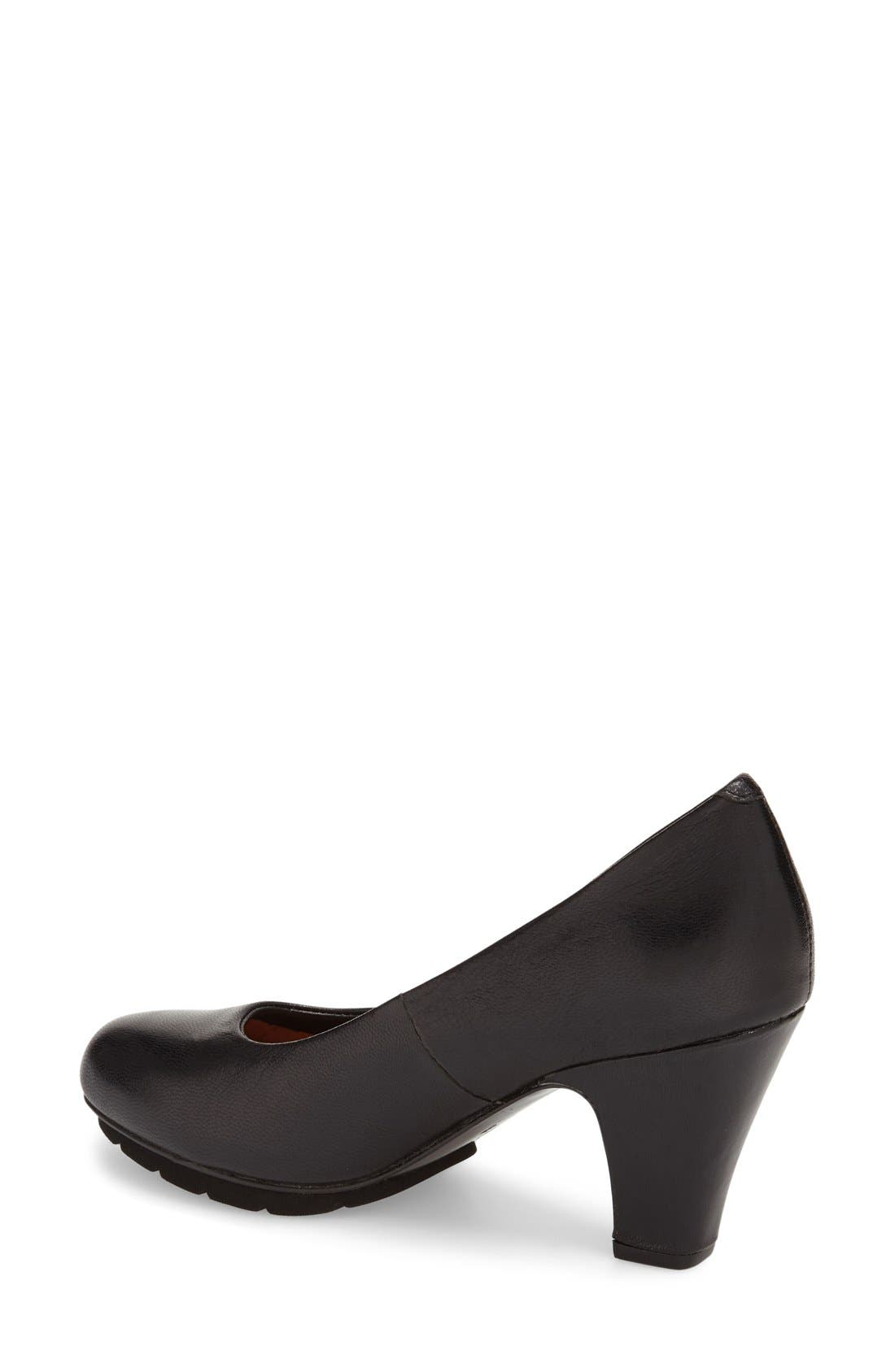 L'Amour des Pieds 'Fabienne' Round Toe Pump,                             Alternate thumbnail 2, color,                             001