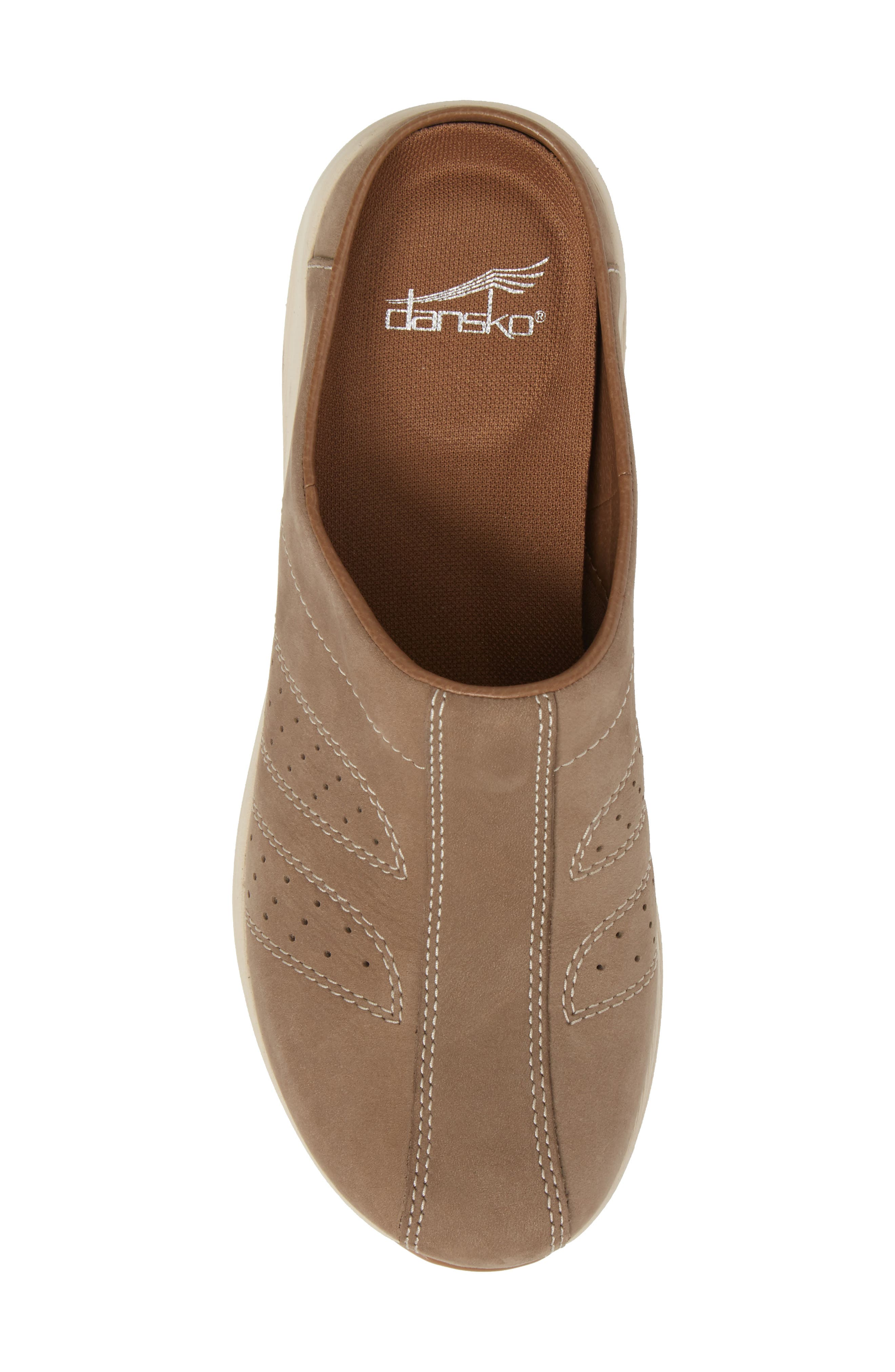 Dankso Shelly Mule,                             Alternate thumbnail 5, color,                             TAUPE MILLED NUBUCK LEATHER