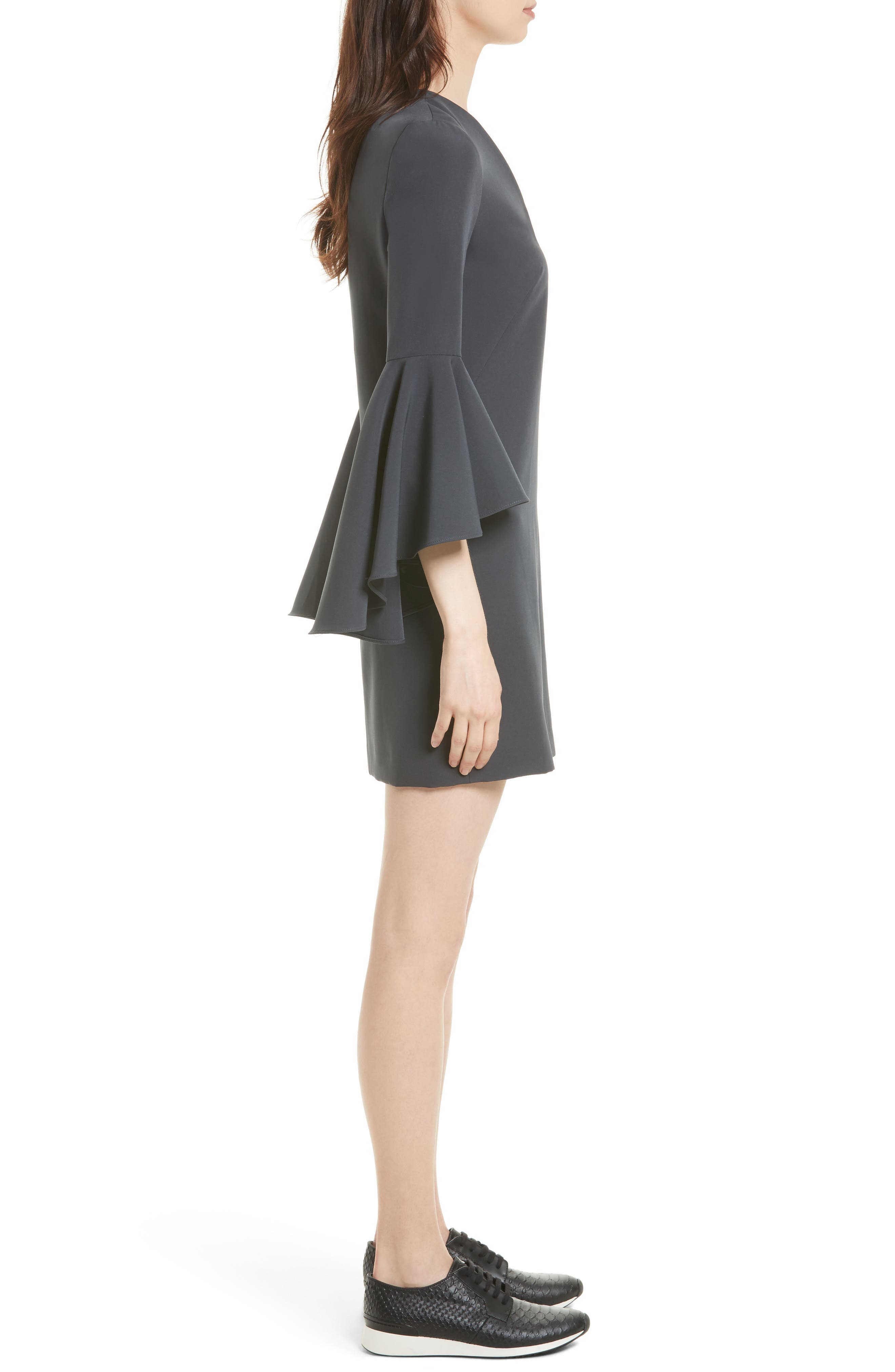 Nicole Bell Sleeve Dress,                             Alternate thumbnail 33, color,