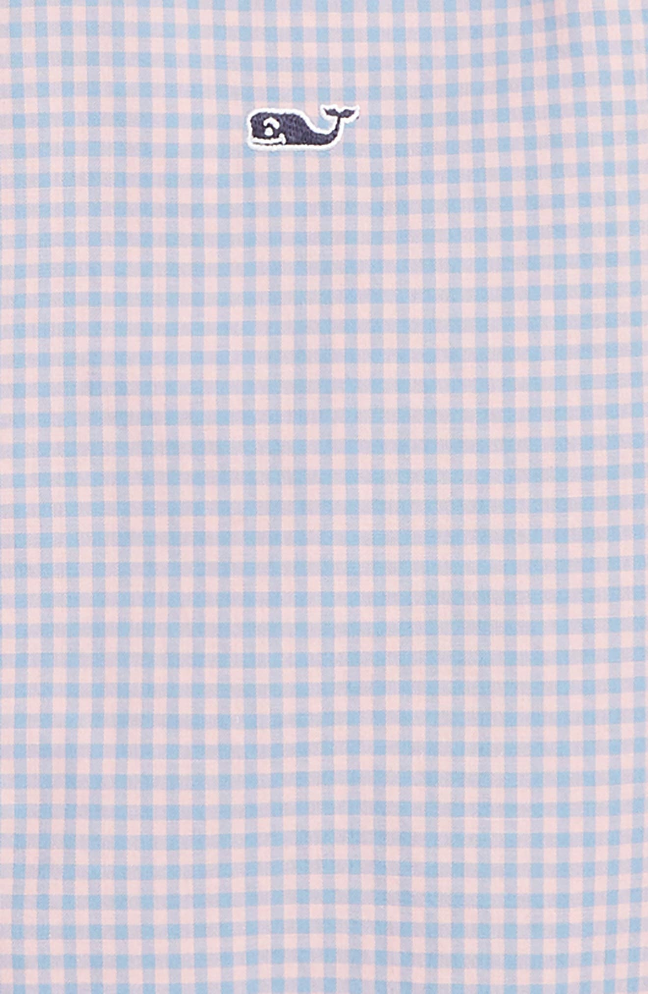 Alicetown Gingham Shirt,                             Alternate thumbnail 2, color,                             HIBISCUS