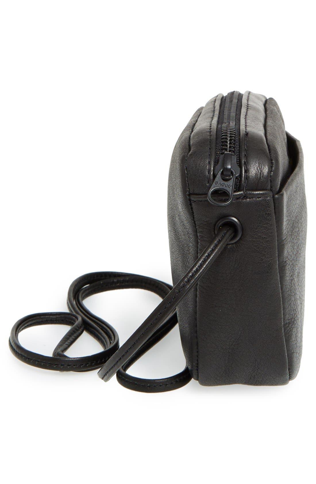 'Mini' Pebbled Leather Crossbody,                             Alternate thumbnail 10, color,                             005