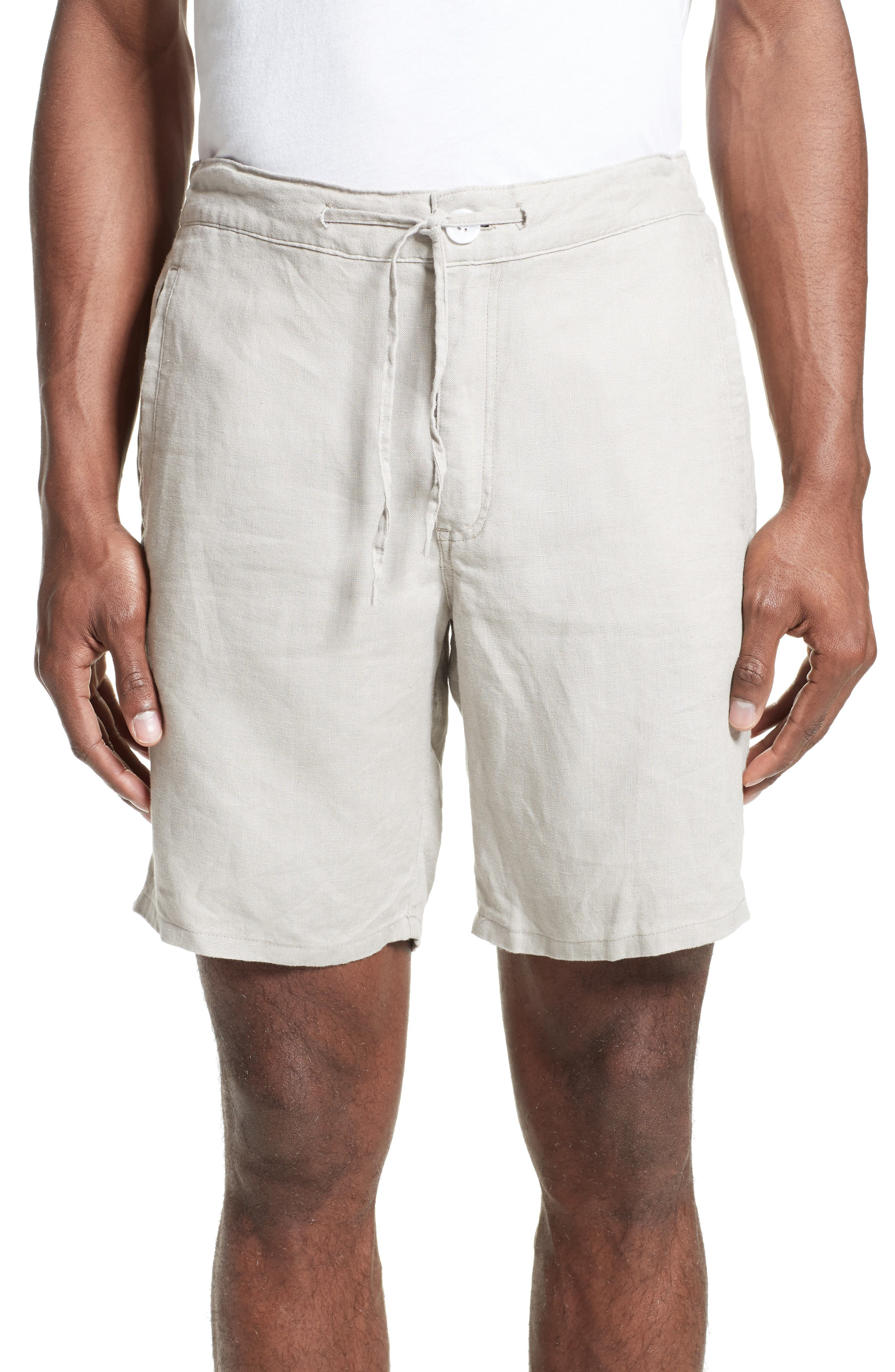 Max Linen Shorts,                             Main thumbnail 1, color,                             DUNE