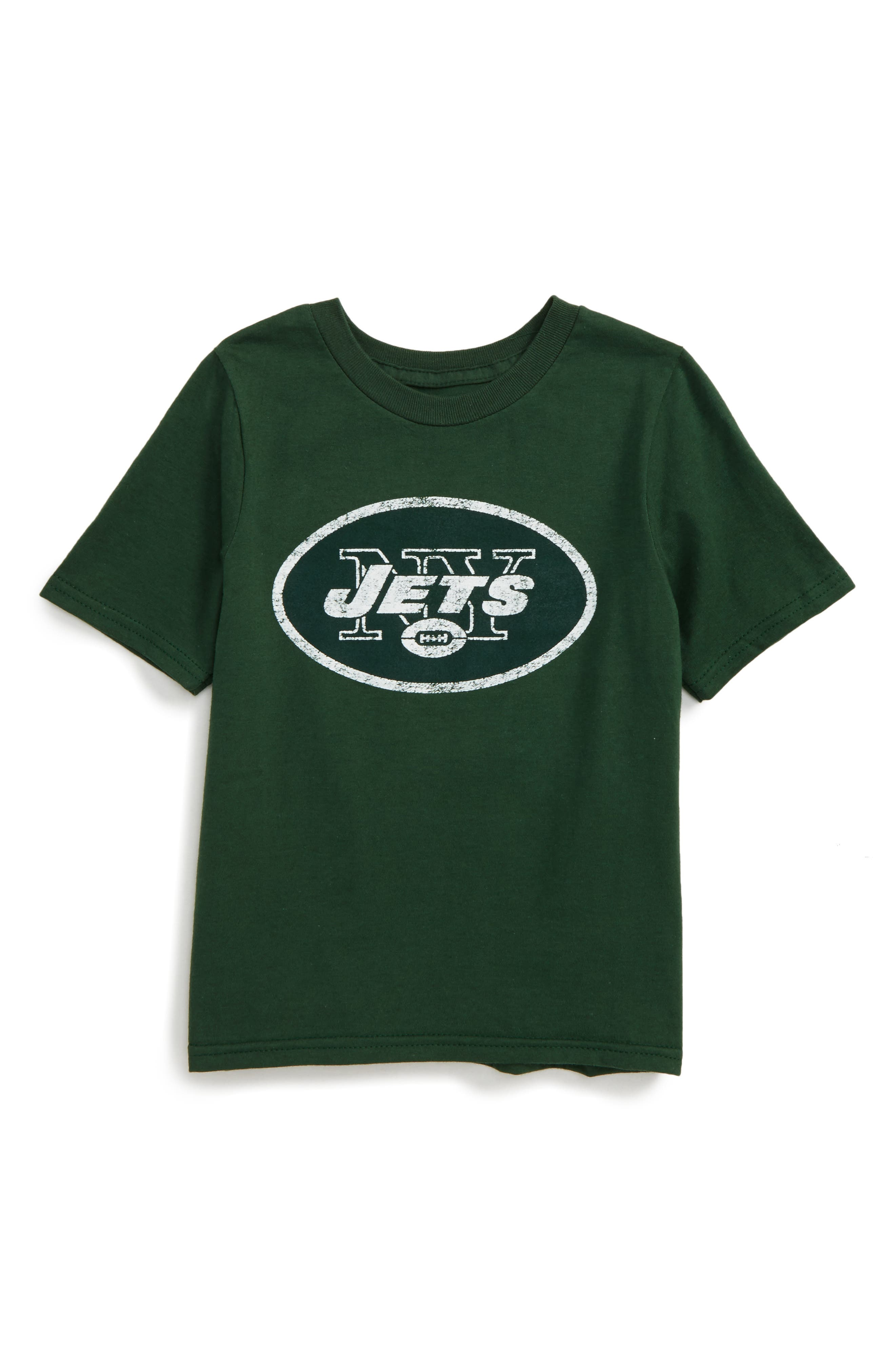 NFL - New York Jets Distressed Logo T-Shirt,                             Main thumbnail 1, color,                             300