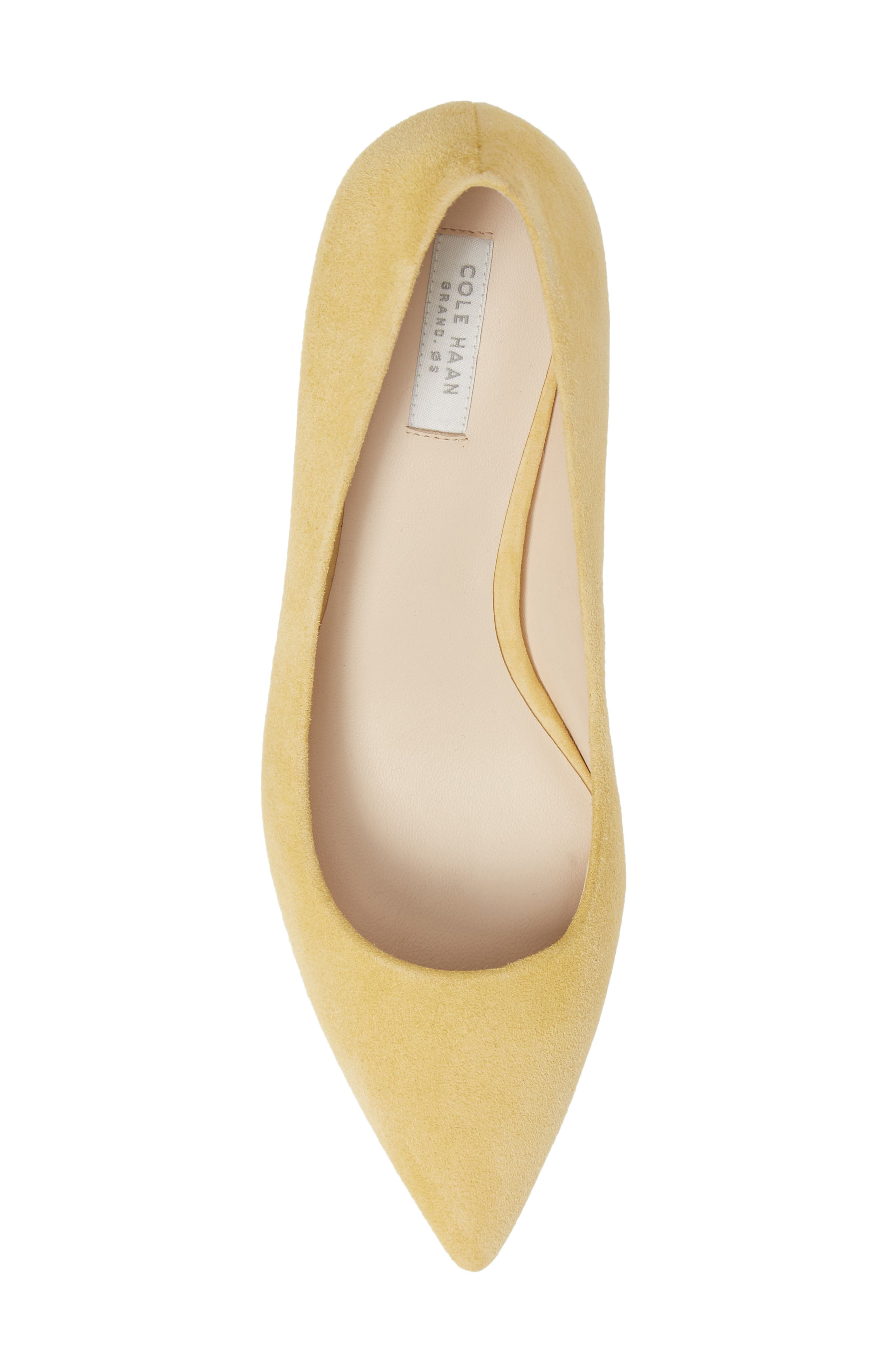 COLE HAAN,                             Vesta Pointy Toe Pump,                             Alternate thumbnail 5, color,                             SUNSET GOLD SUEDE