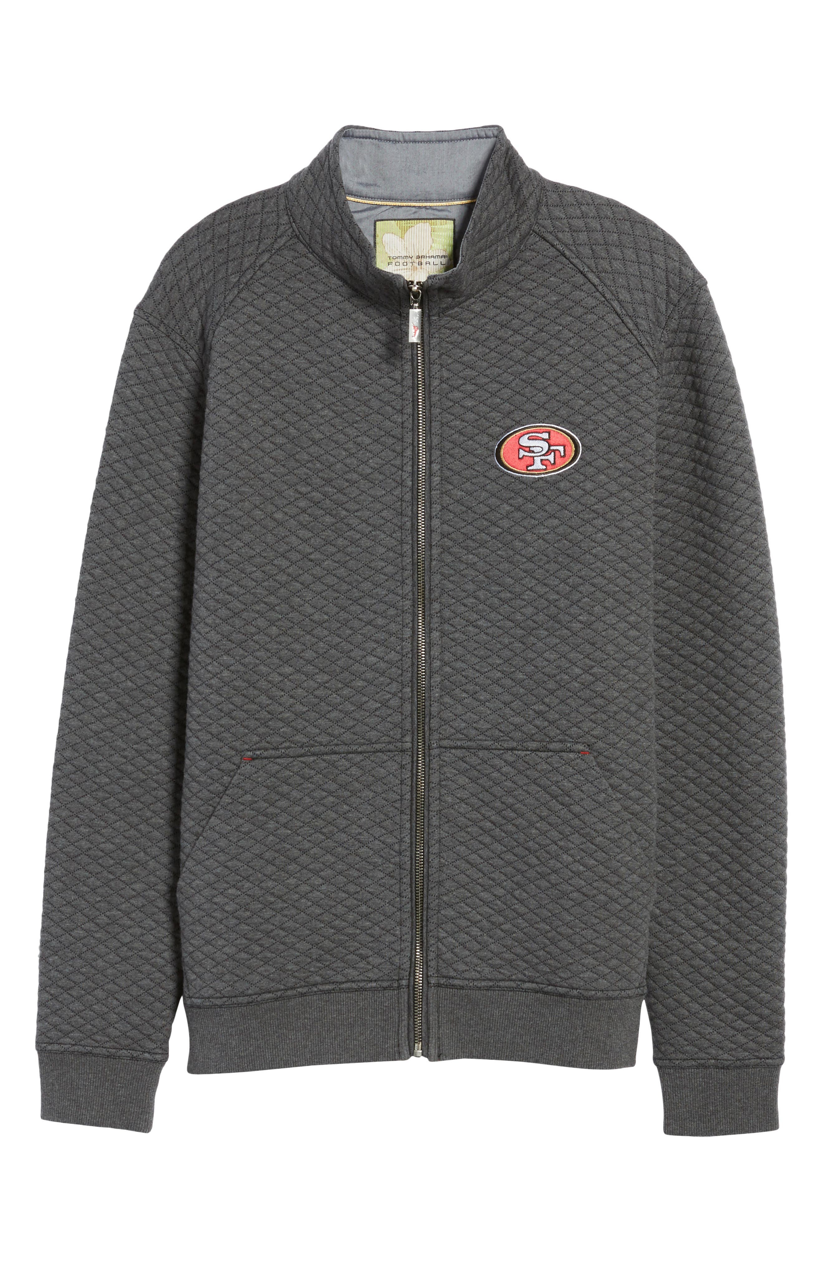NFL Quiltessential Full Zip Sweatshirt,                             Alternate thumbnail 6, color,                             020