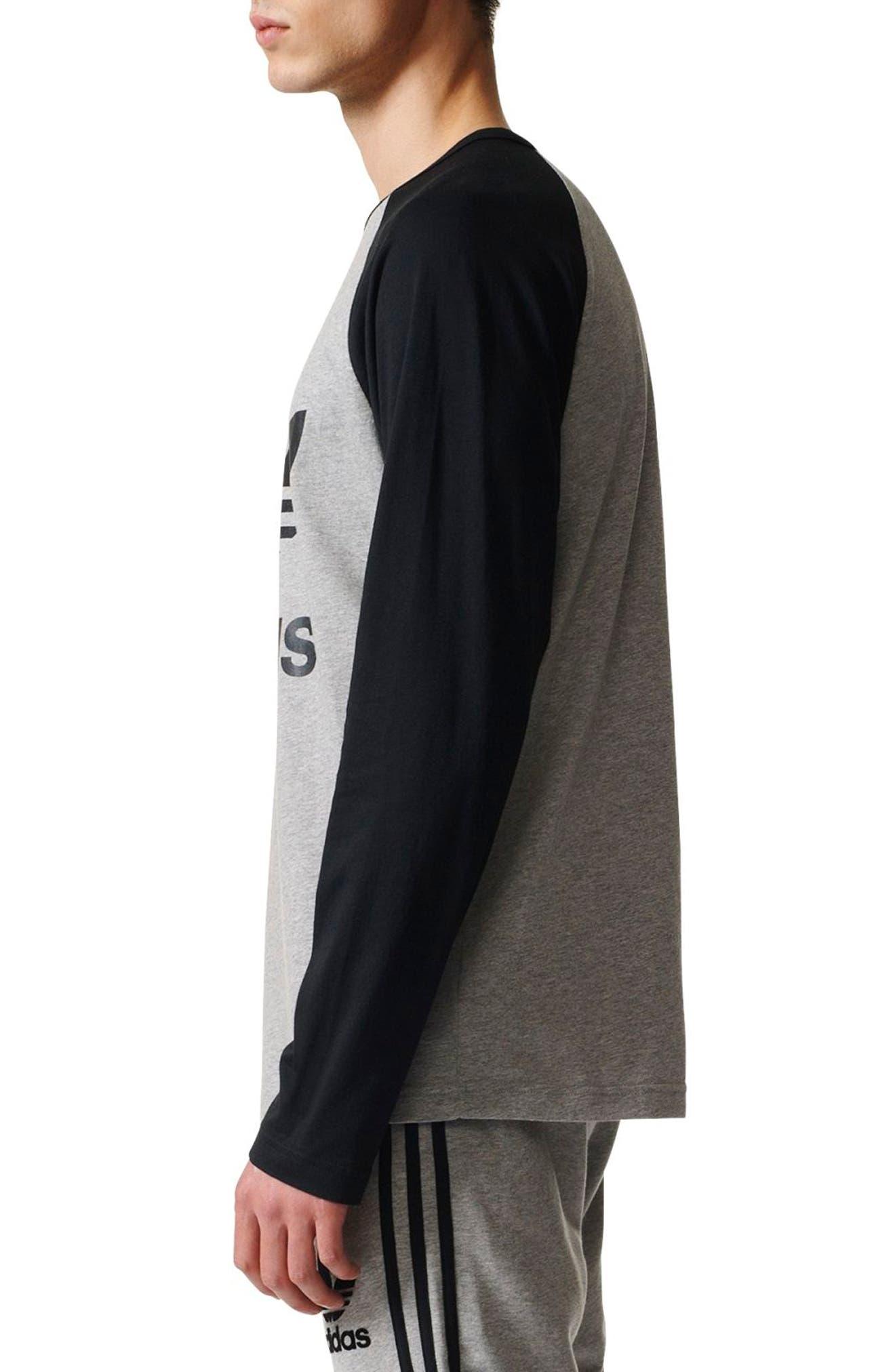 adidas Logo Graphic T-Shirt,                             Alternate thumbnail 3, color,                             035
