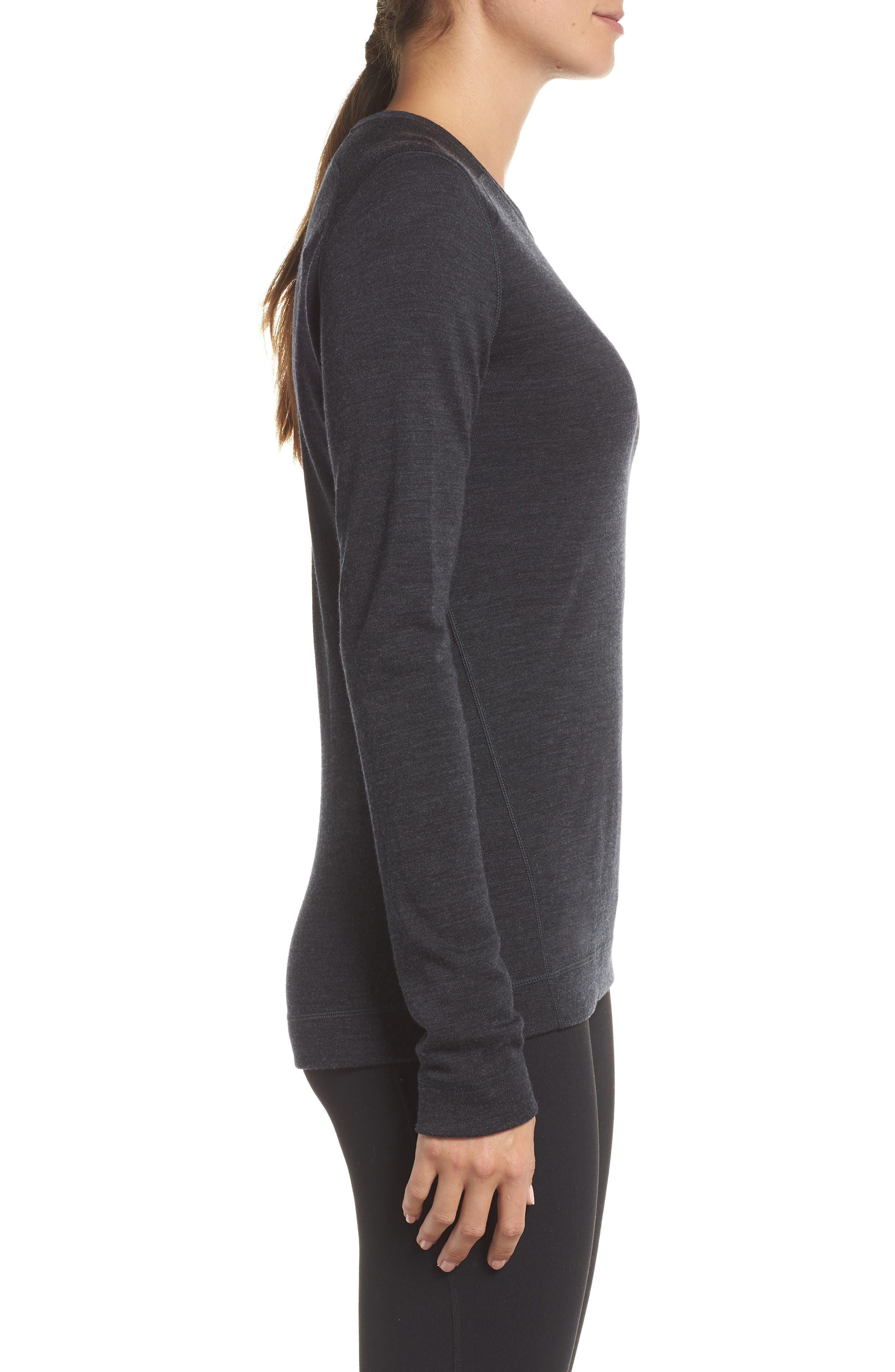 Merino 250 Base Layer Crew Top,                             Alternate thumbnail 3, color,                             CHARCOAL HEATHER