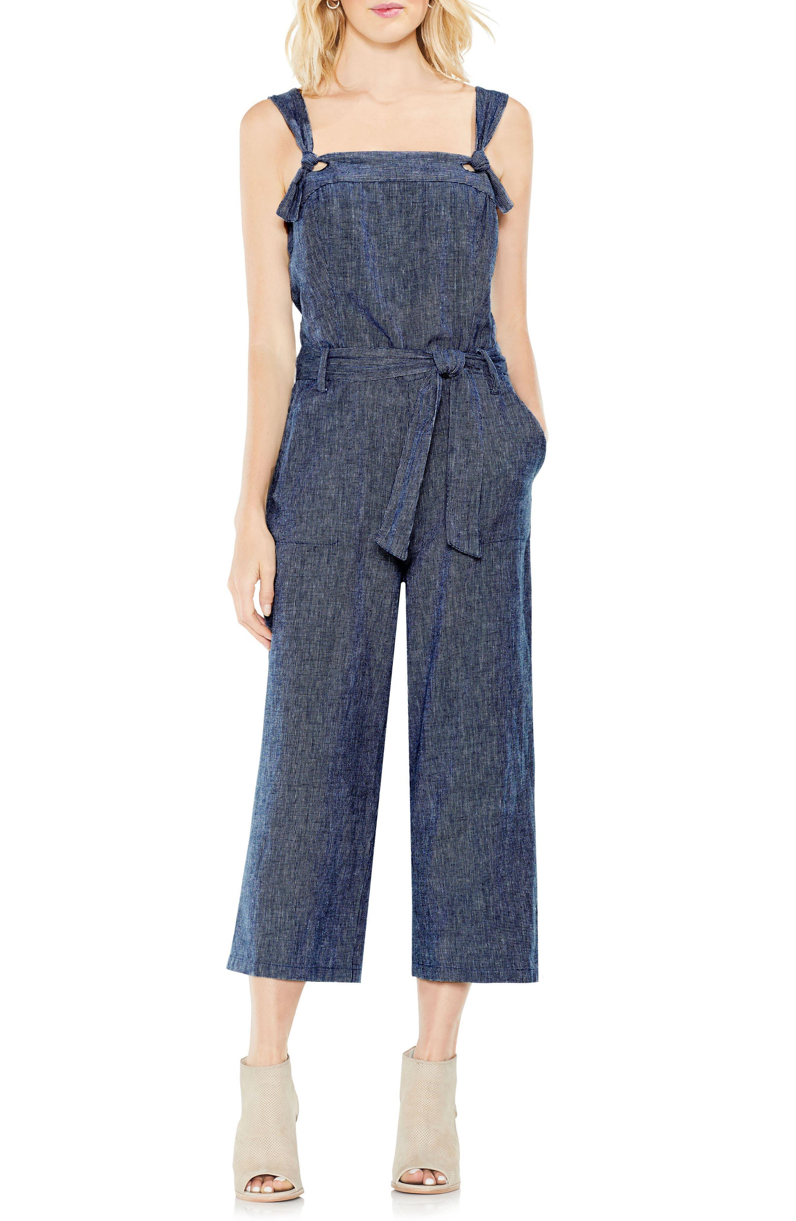 Linen Belted Jumpsuit,                             Main thumbnail 1, color,                             462