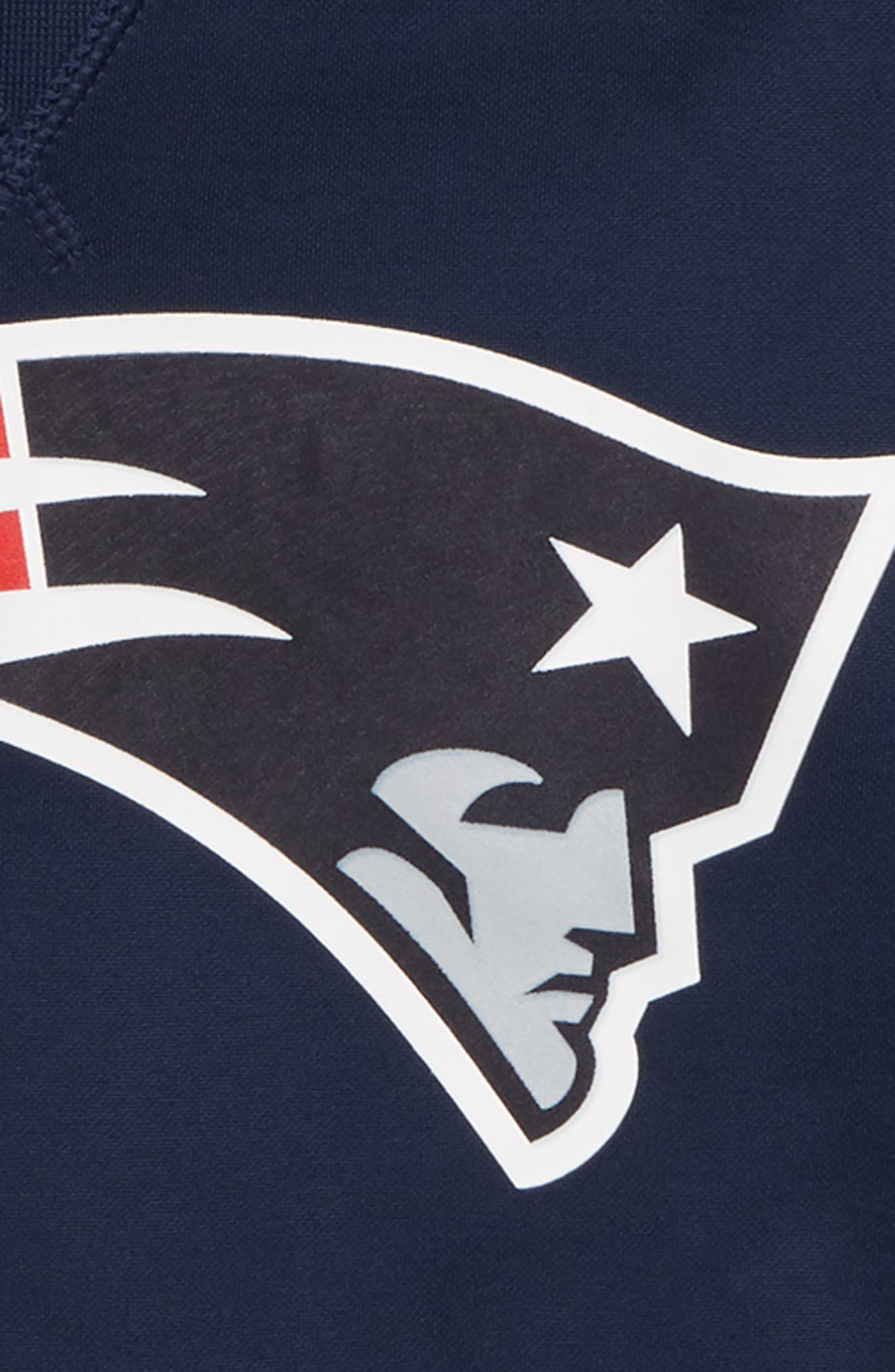 NFL New England Patriots Therma Hoodie,                             Alternate thumbnail 2, color,                             NAVY