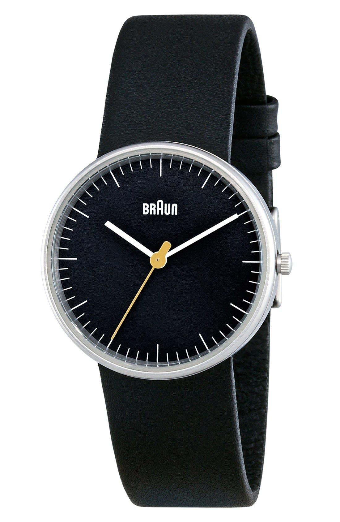BRAUN,                             'Classic' Strap Watch, 31mm,                             Alternate thumbnail 2, color,                             001