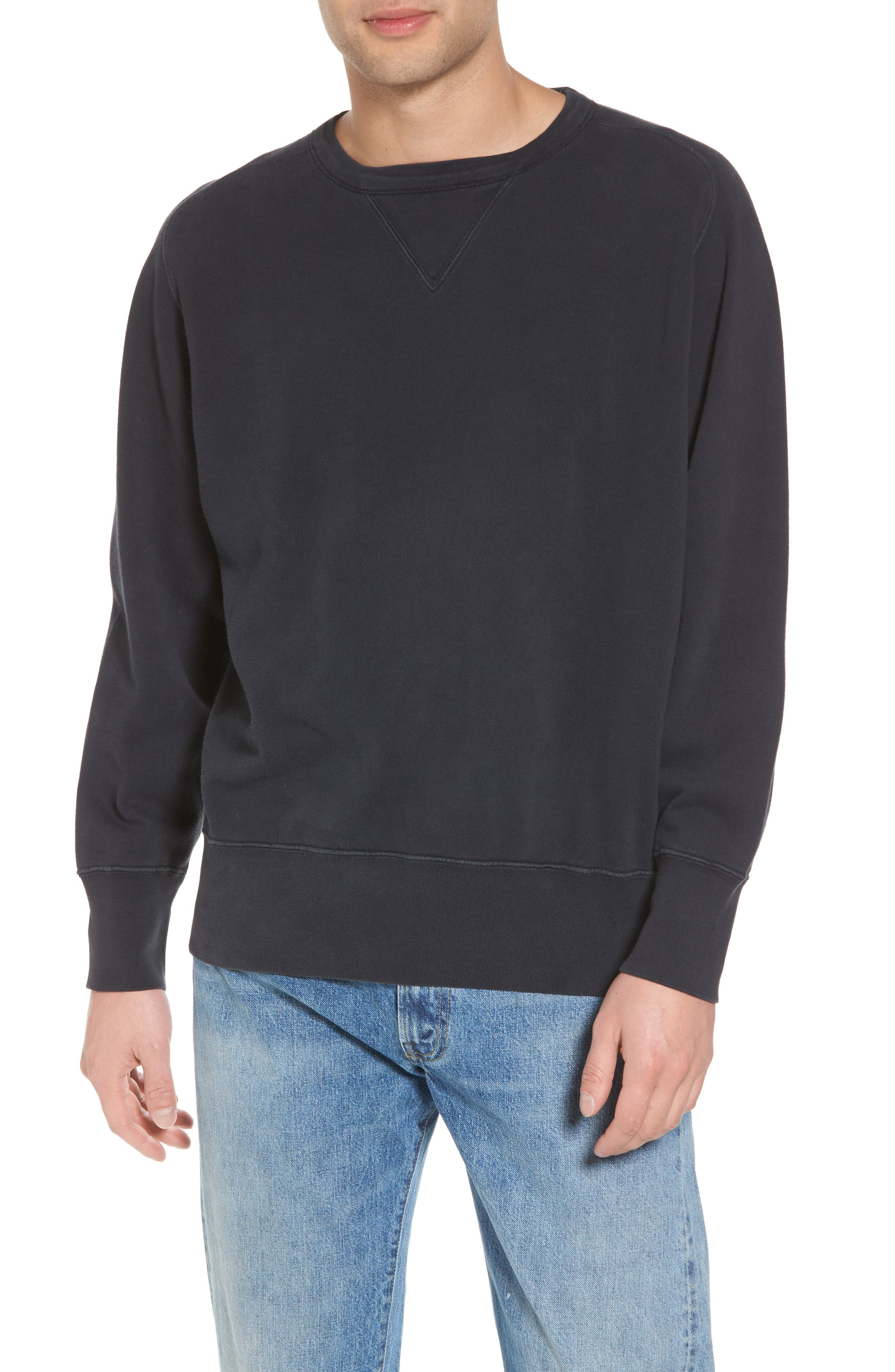 Bay Meadows Sweatshirt,                         Main,                         color, BLACK