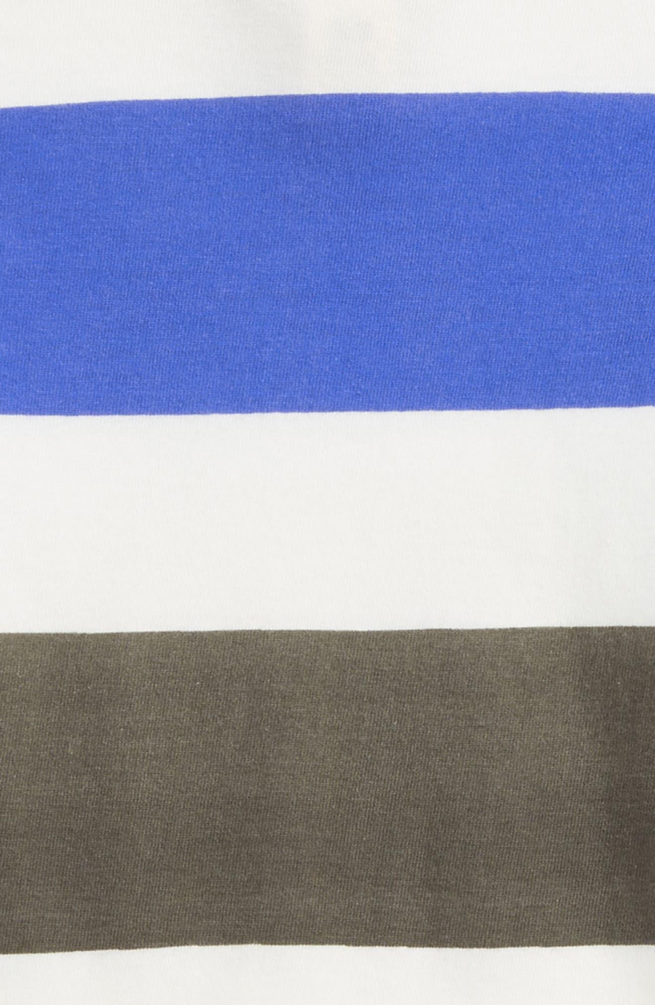 Quinn Stripe T-Shirt,                             Alternate thumbnail 3, color,                             100