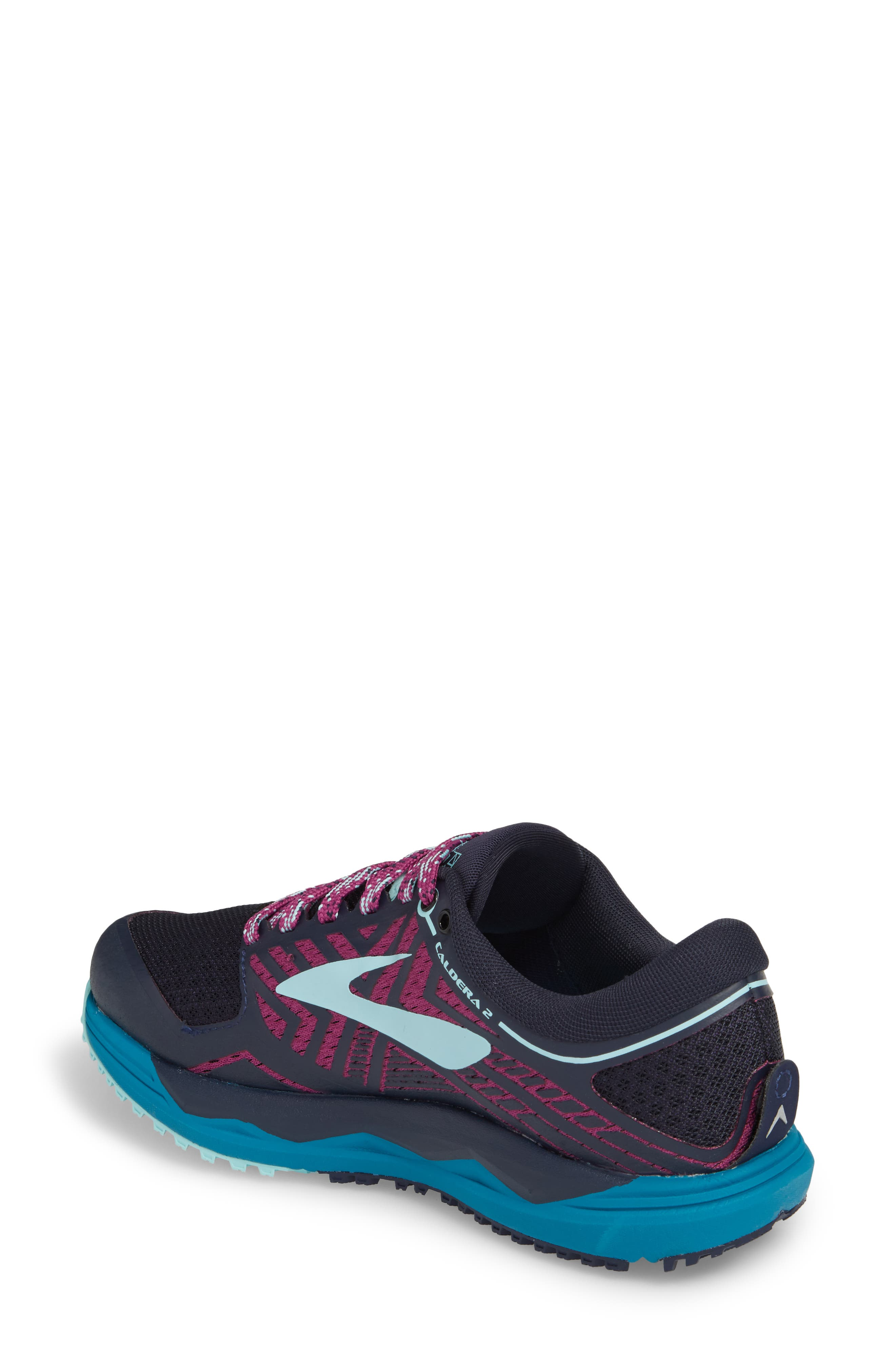 Caldera 2 Trail Running Shoe,                             Alternate thumbnail 2, color,                             NAVY/ PLUM/ ICE BLUE