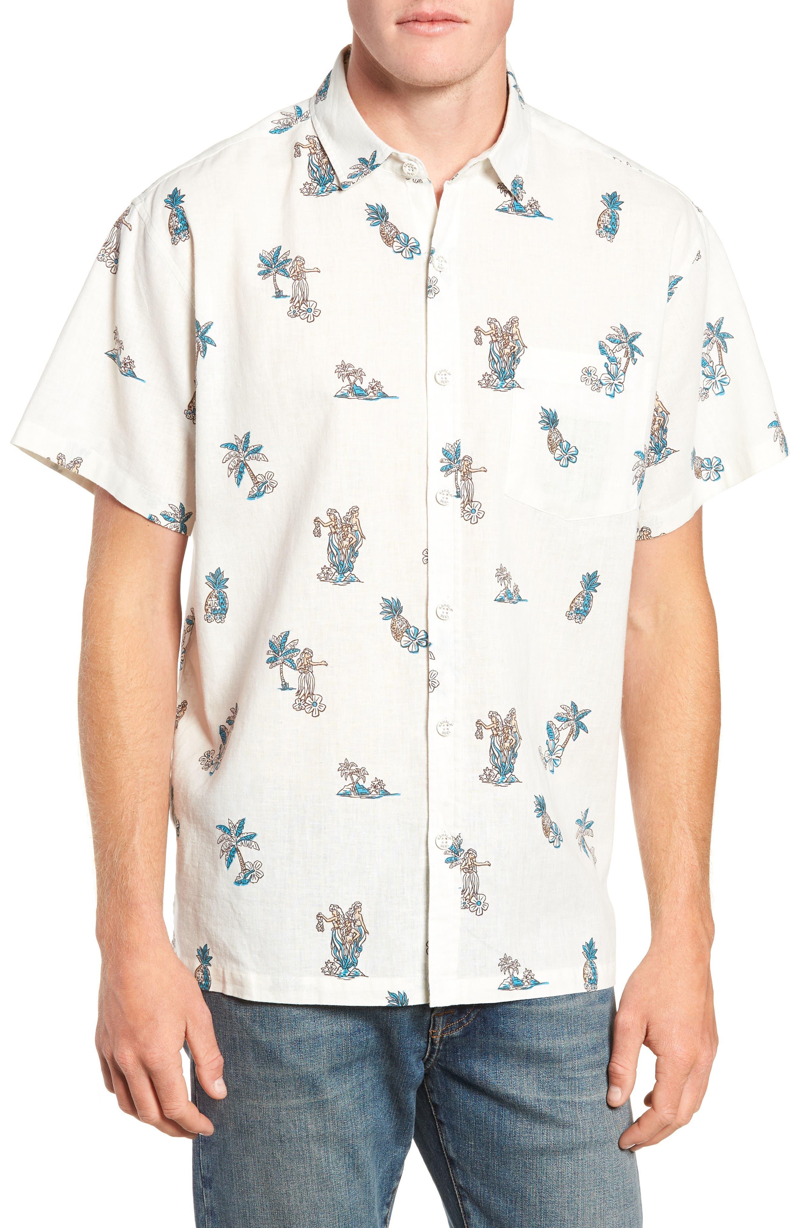 Moku Iki Classic Fit Linen & Cotton Sport Shirt,                         Main,                         color, 102
