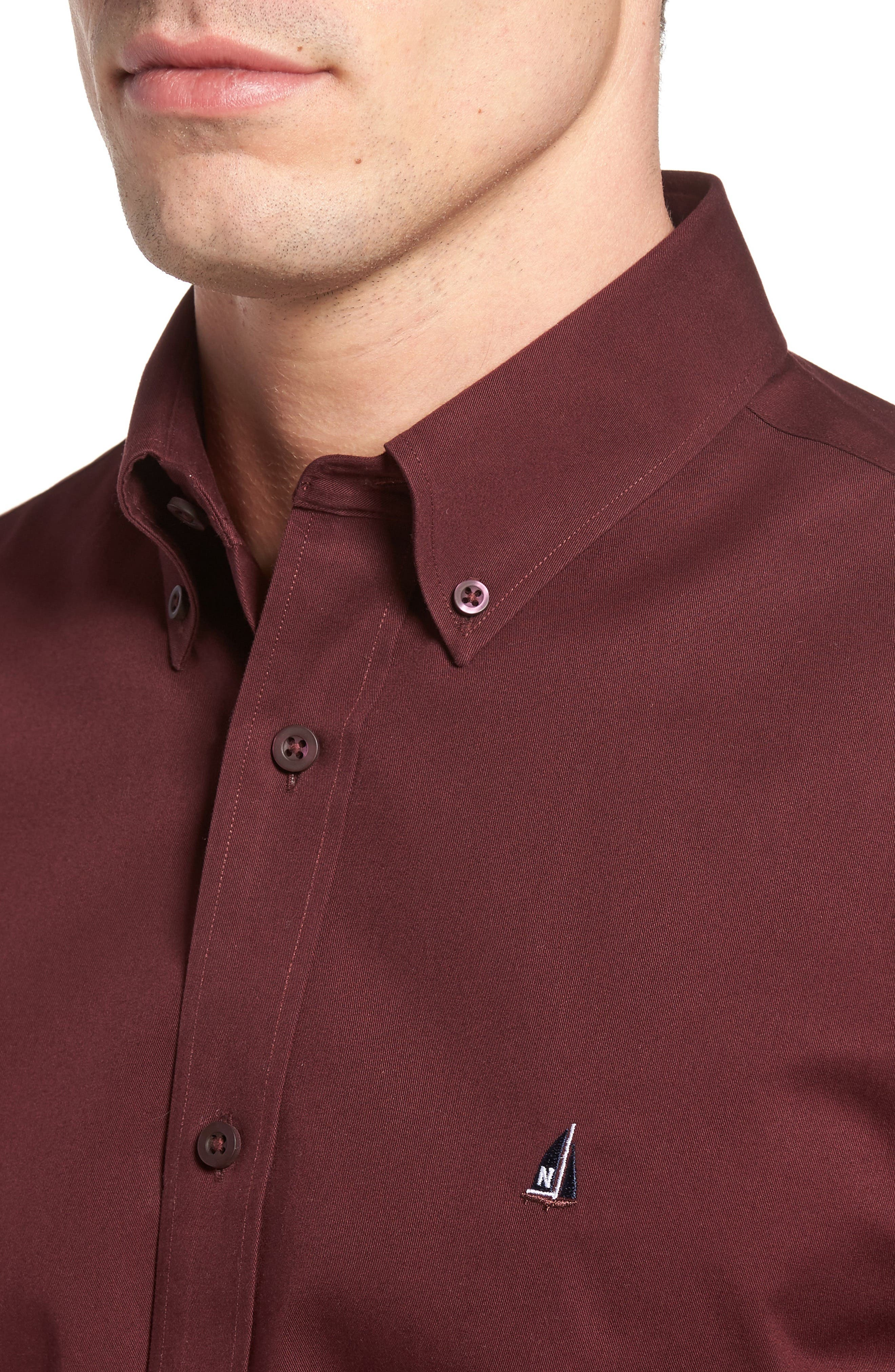 Smartcare<sup>™</sup> Traditional Fit Twill Boat Shirt,                             Alternate thumbnail 156, color,