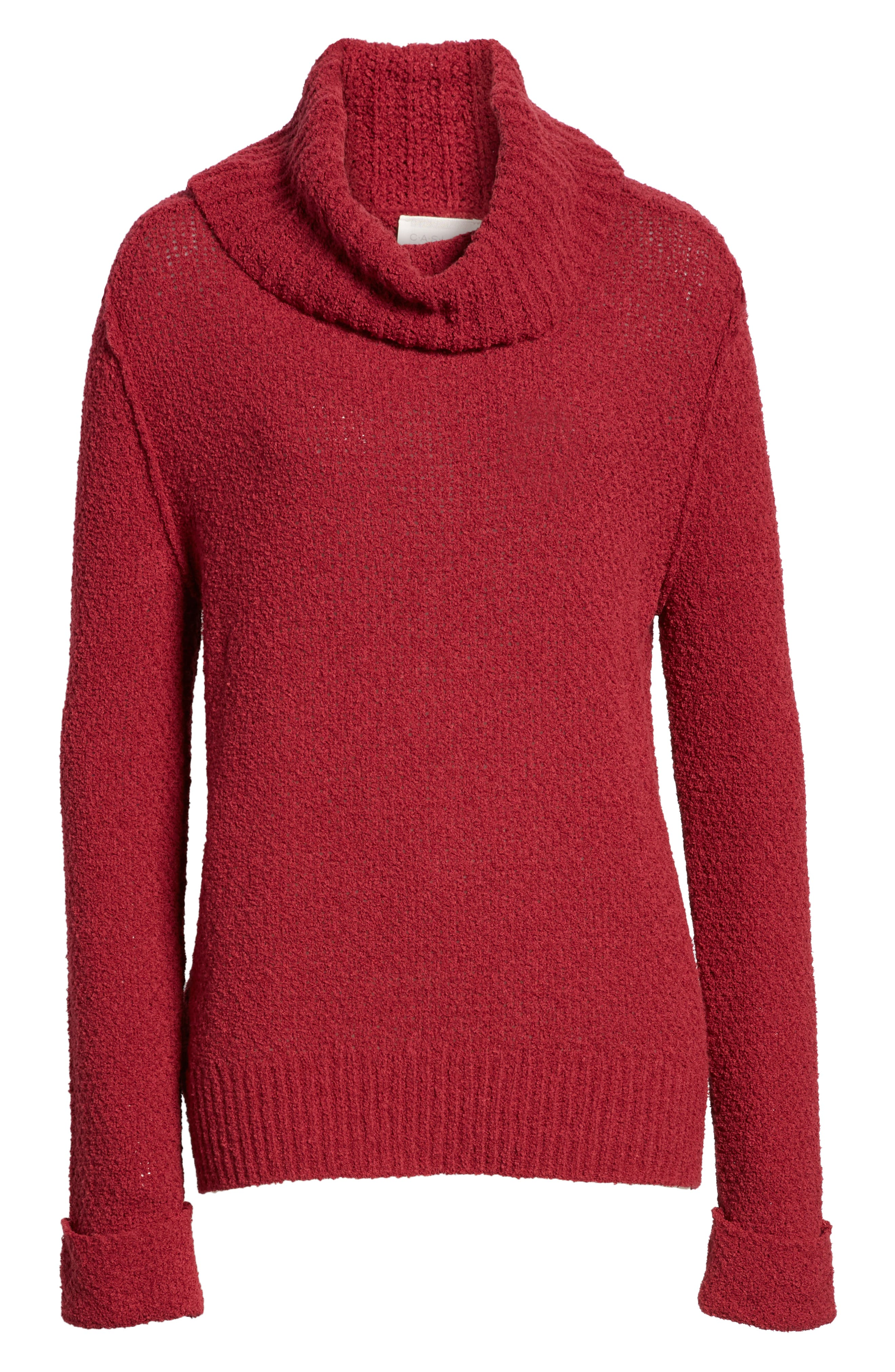 CASLON<SUP>®</SUP>,                             Cuff Sleeve Sweater,                             Alternate thumbnail 6, color,                             601