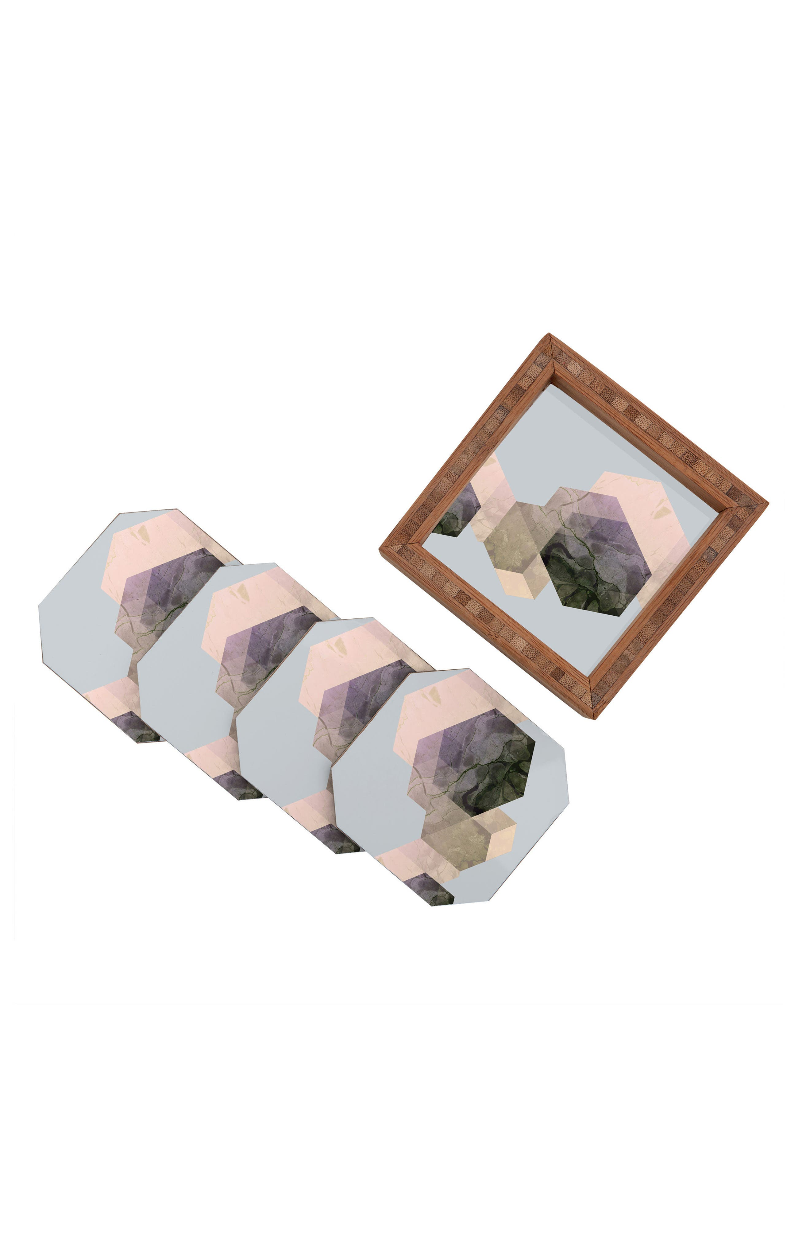 Marble Set of 4 Coasters,                             Alternate thumbnail 3, color,                             400