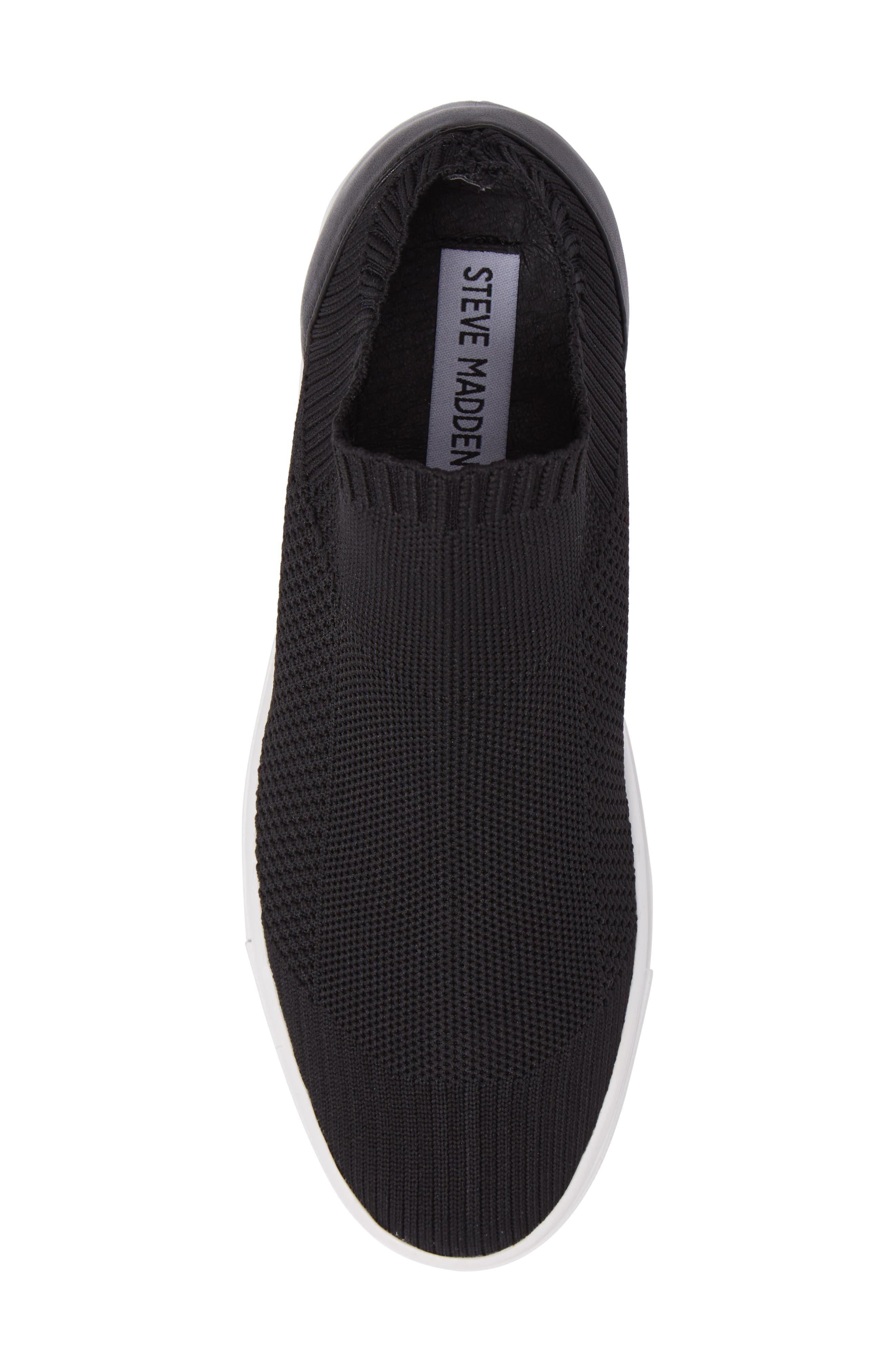 Sly Hidden Wedge Knit Sneaker,                             Alternate thumbnail 5, color,                             003