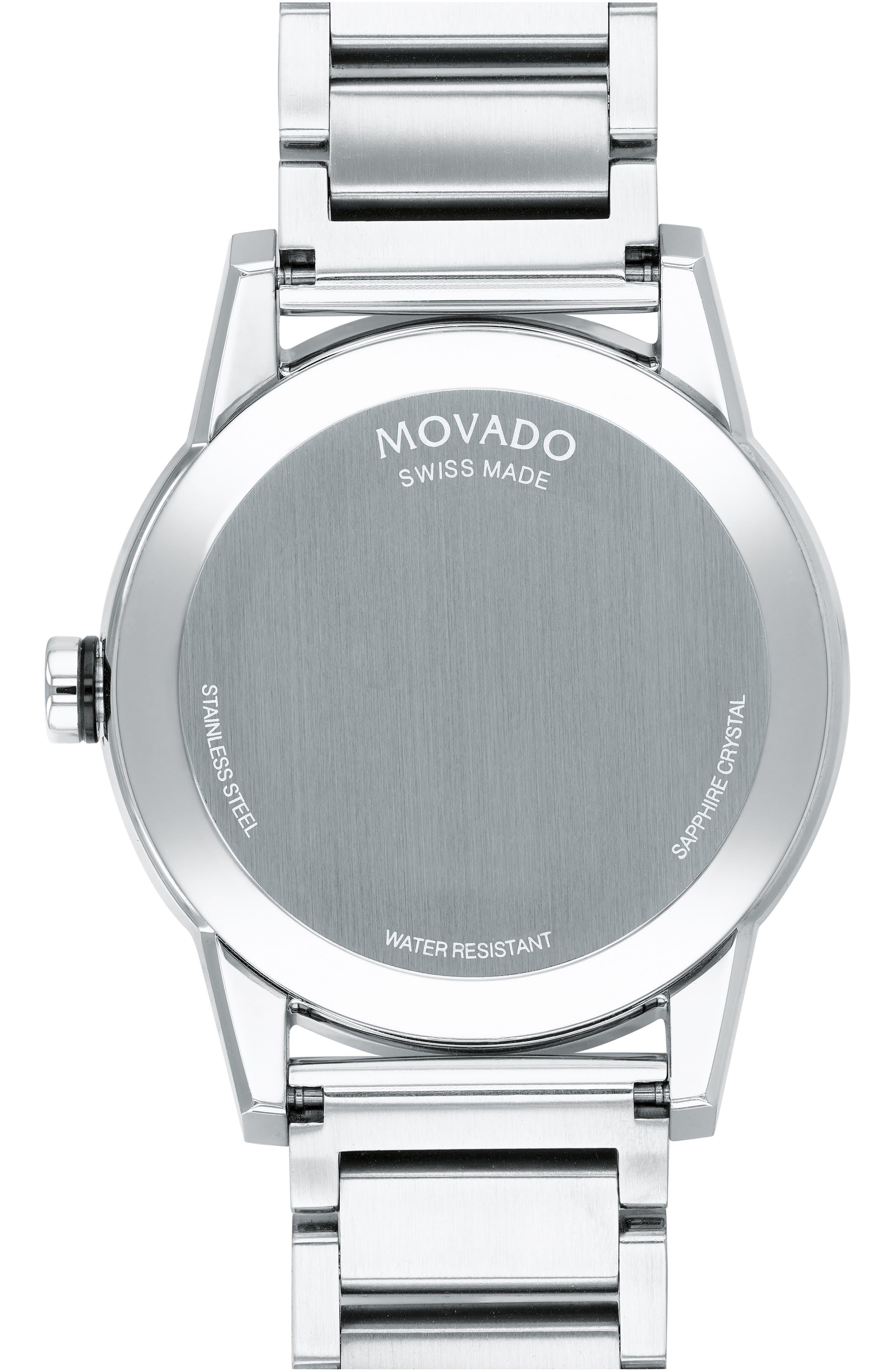 Museum Sport Bracelet Watch, 42mm,                             Alternate thumbnail 2, color,                             SILVER/ BLACK/ SILVER