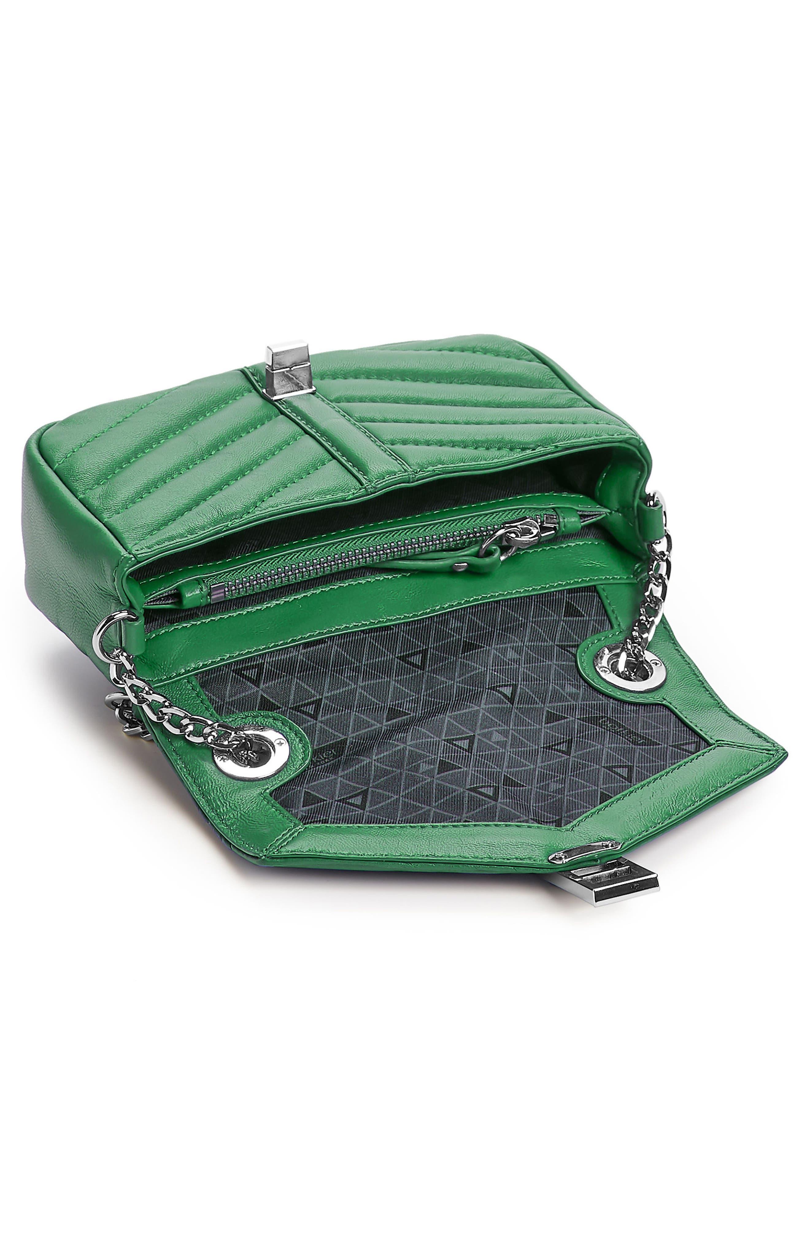 Dakota Quilted Leather Crossbody Bag,                             Alternate thumbnail 2, color,                             GREEN