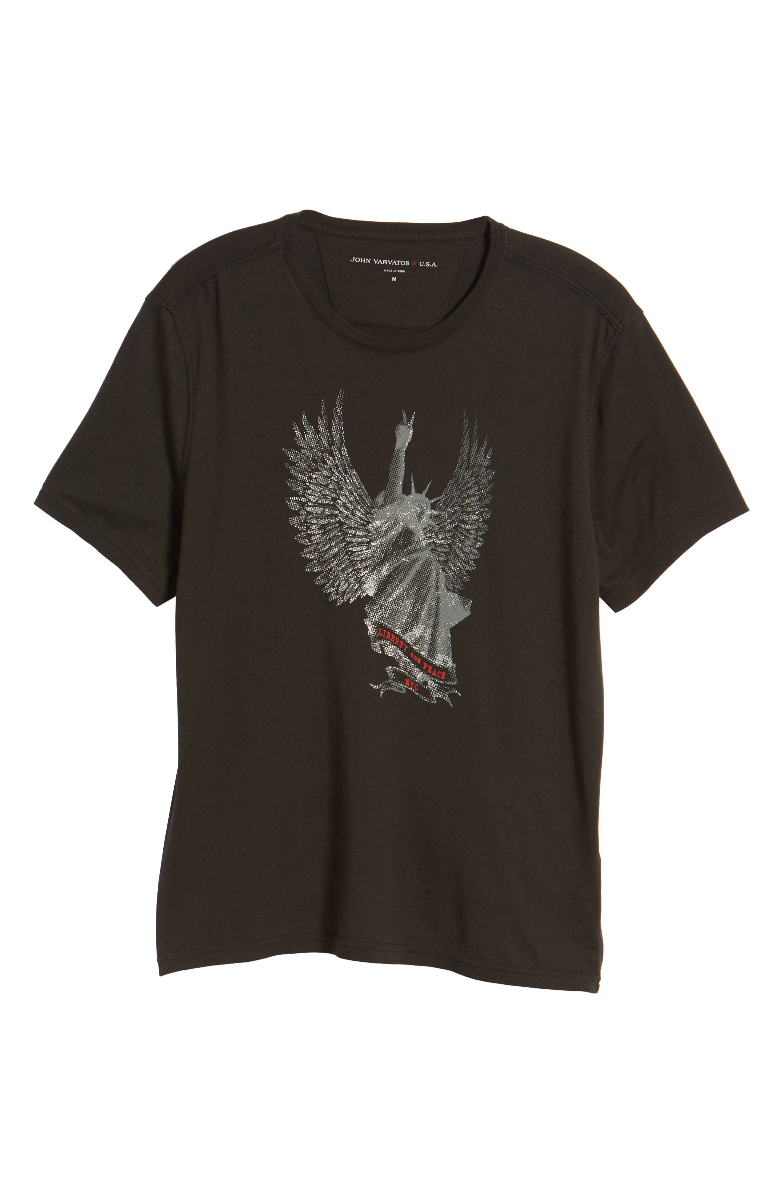 Liberty Wings Graphic T-Shirt,                             Alternate thumbnail 6, color,