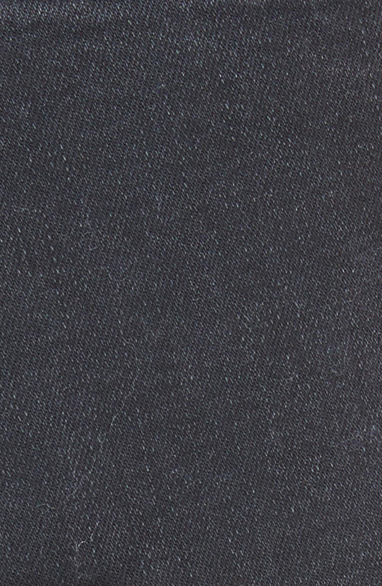 Lace-Up High Waist Denim Leggings,                             Alternate thumbnail 5, color,