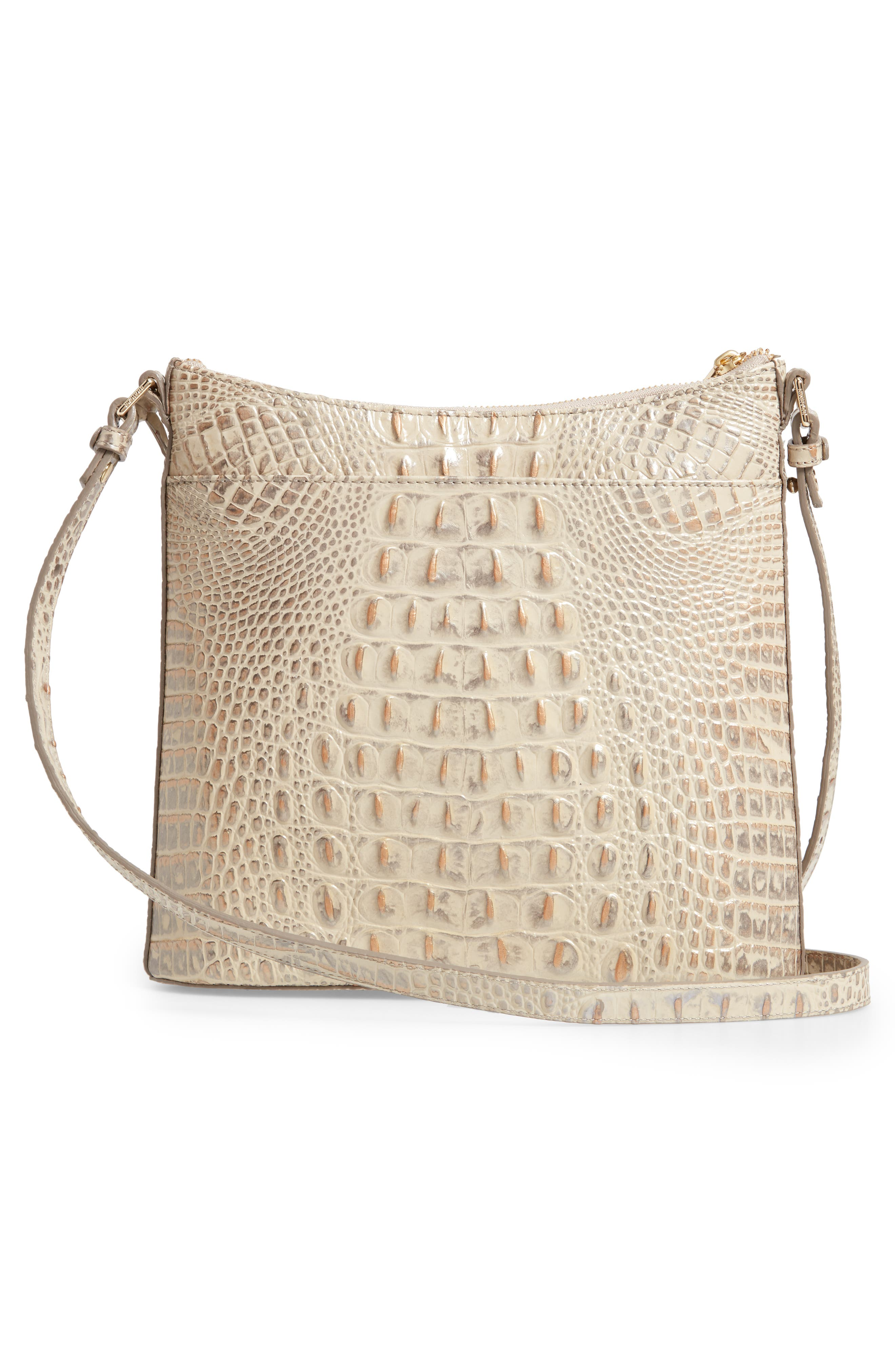 Katie Croc Embossed Leather Crossbody Bag,                             Alternate thumbnail 3, color,                             SILVER BIRCH