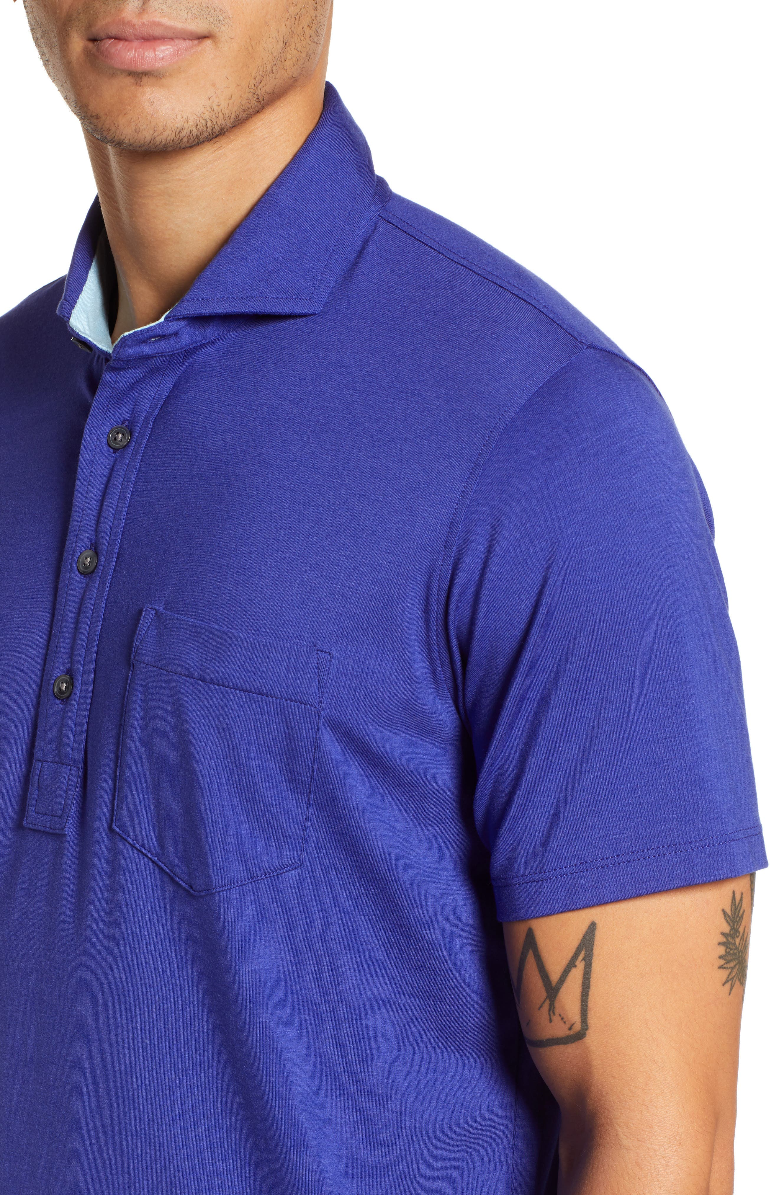 Jersey Polo,                             Alternate thumbnail 4, color,                             TWILIGHT
