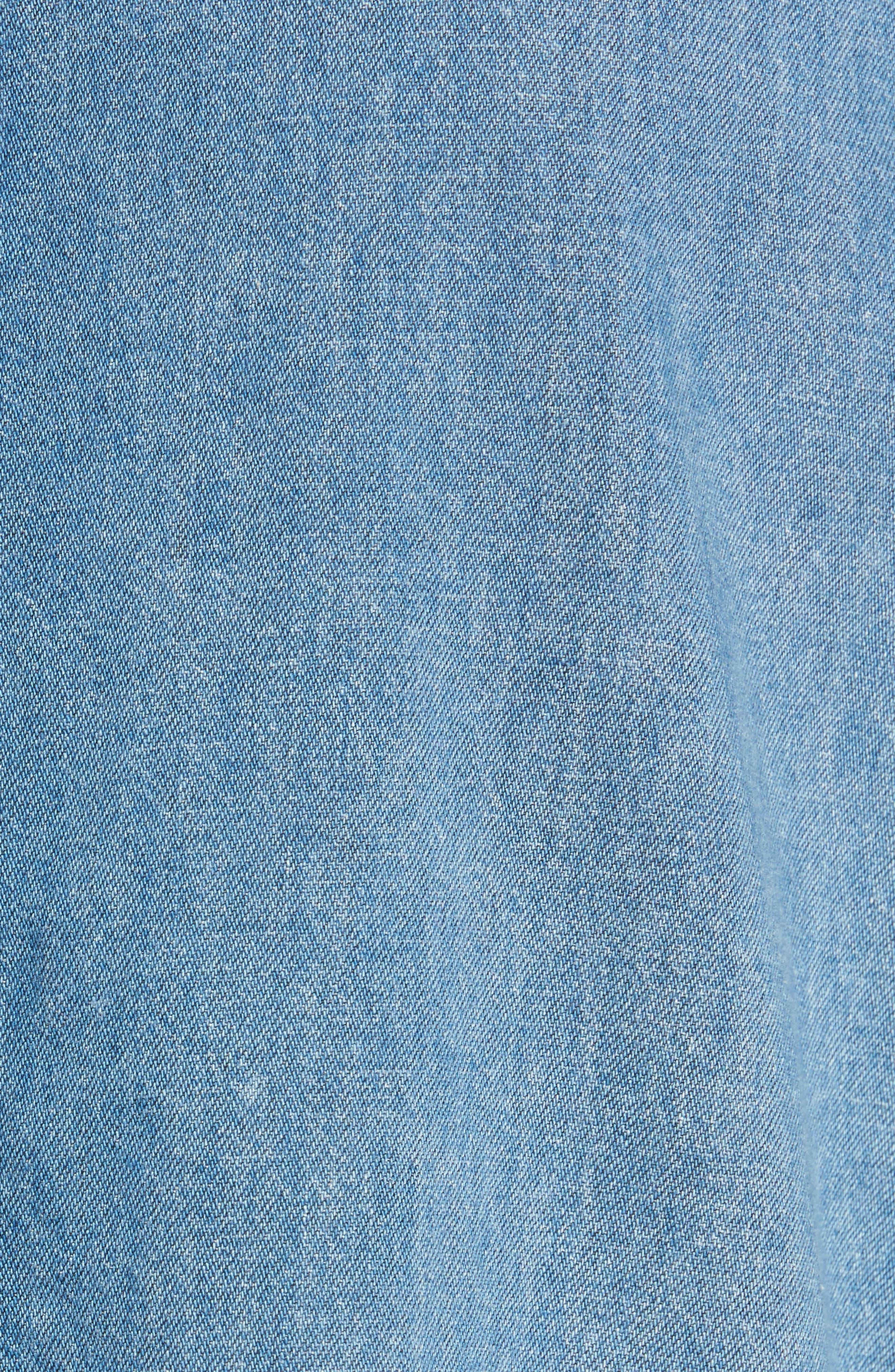 Elton Oversized Denim Shirt,                             Alternate thumbnail 5, color,