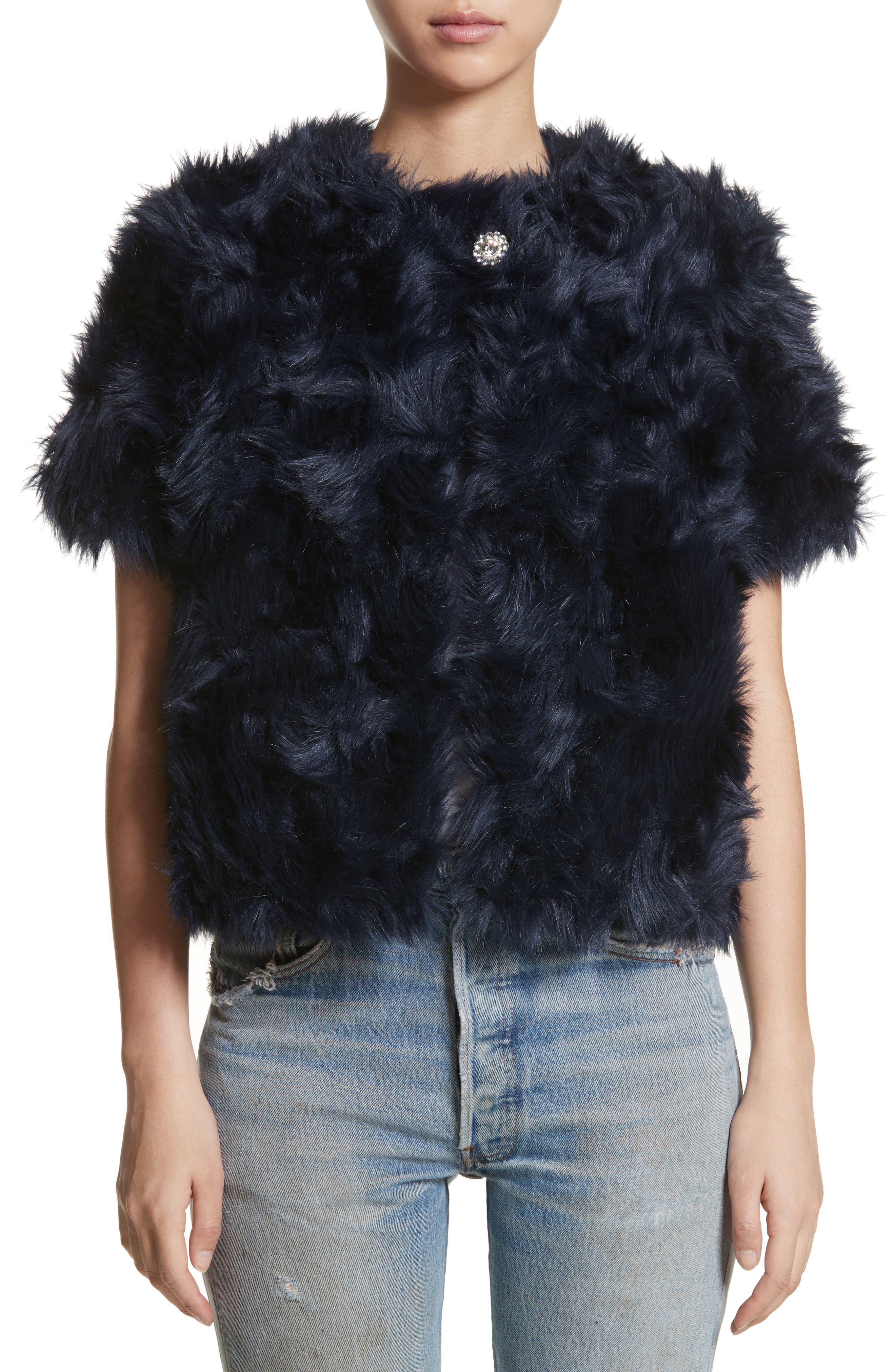 Sofia Faux Fur Jacket,                             Main thumbnail 1, color,                             400