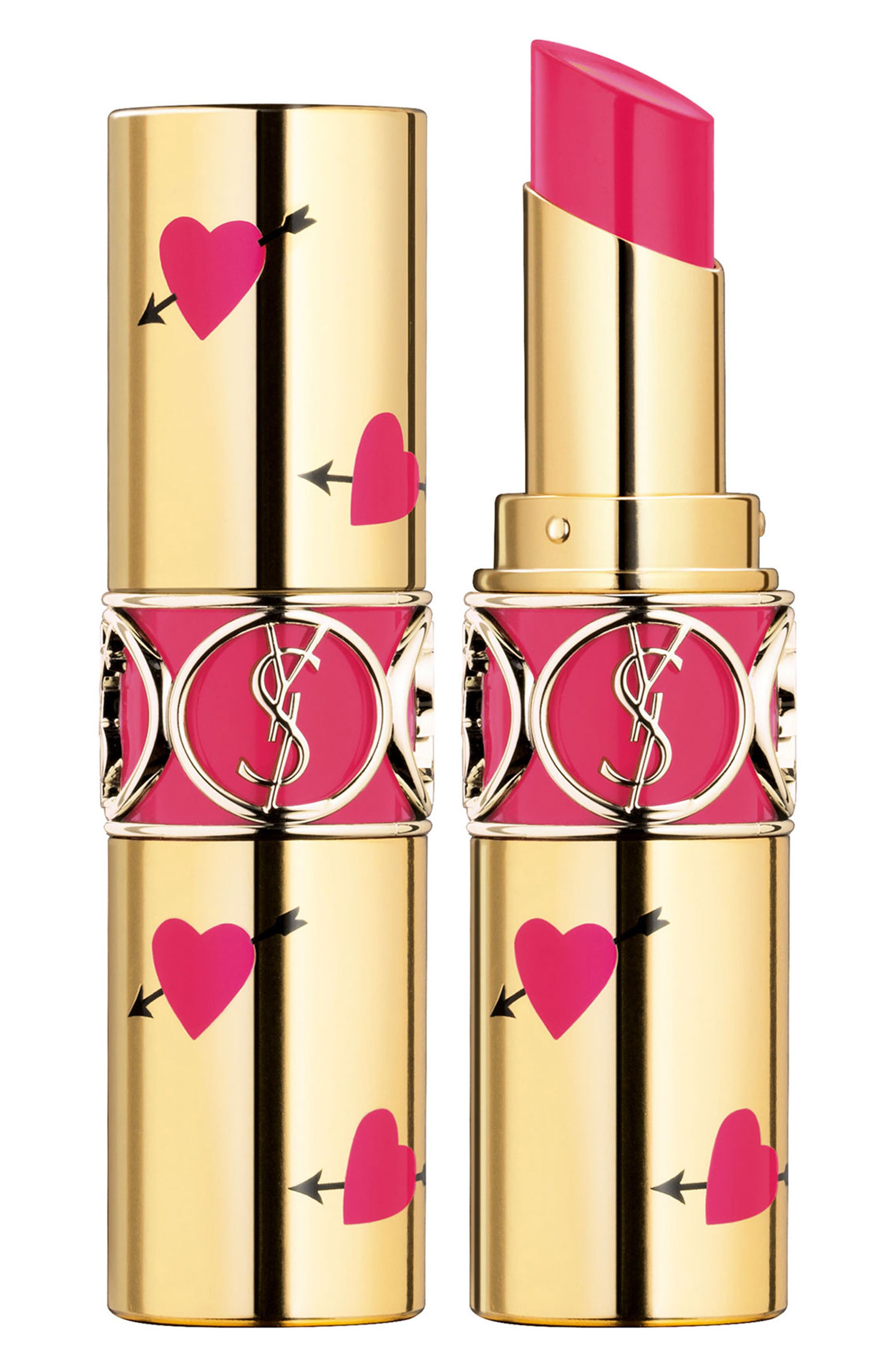 Yves Saint Laurent Heart And Arrow Rouge Volupte Shine Collector Oil-In-Stick Lipstick - 49 Rose Saint Germain
