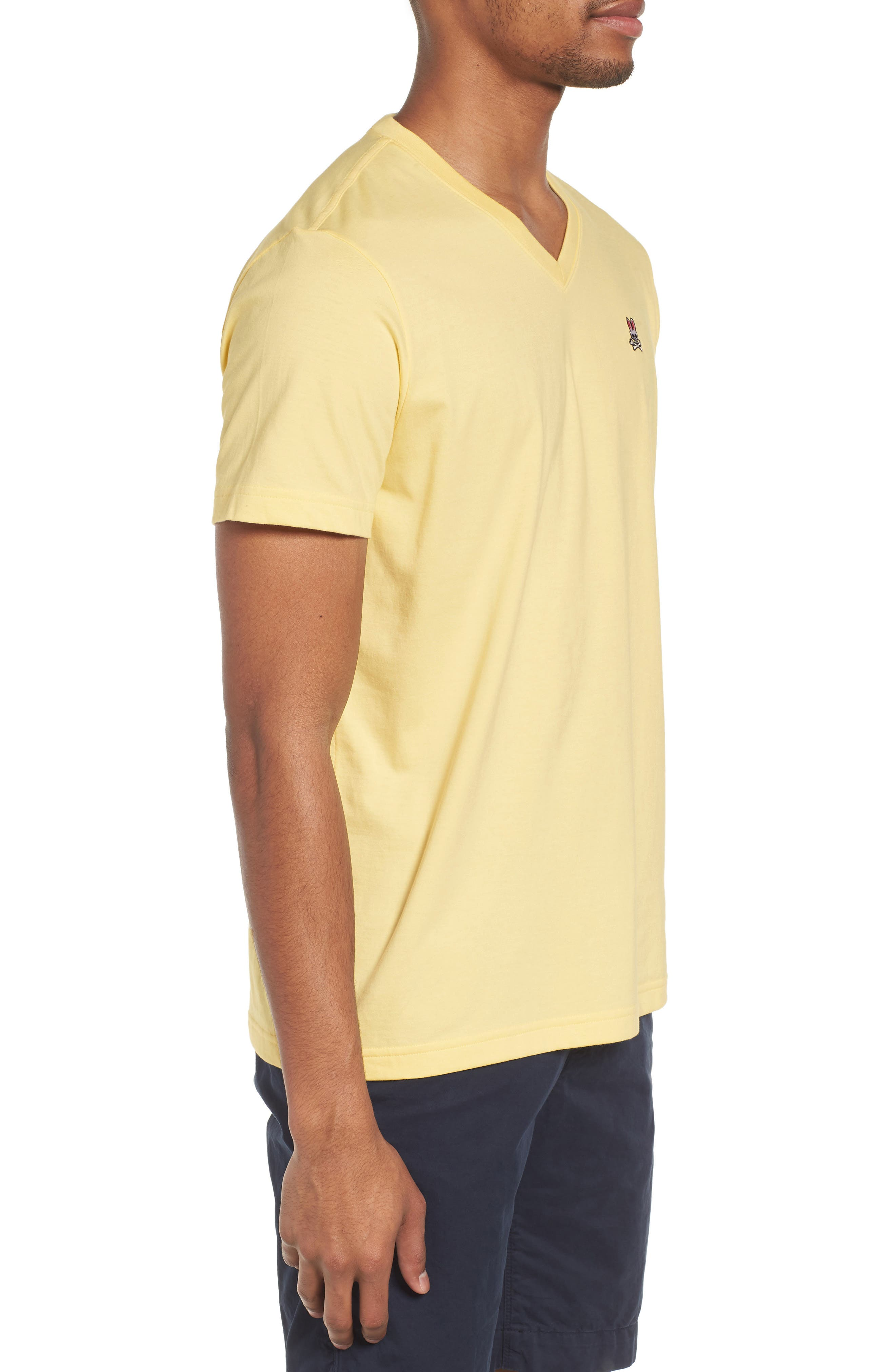 V-Neck T-Shirt,                             Alternate thumbnail 3, color,                             BANANA