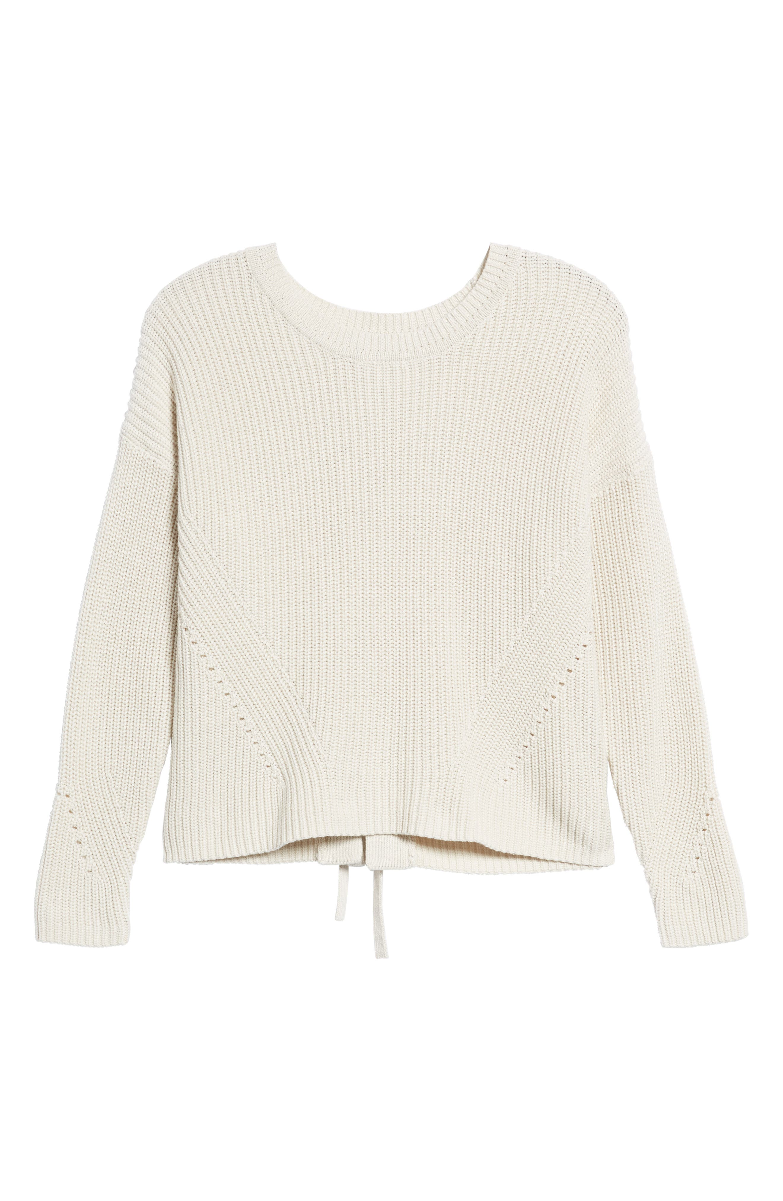 Lace-Up Back Sweater,                             Alternate thumbnail 6, color,                             250