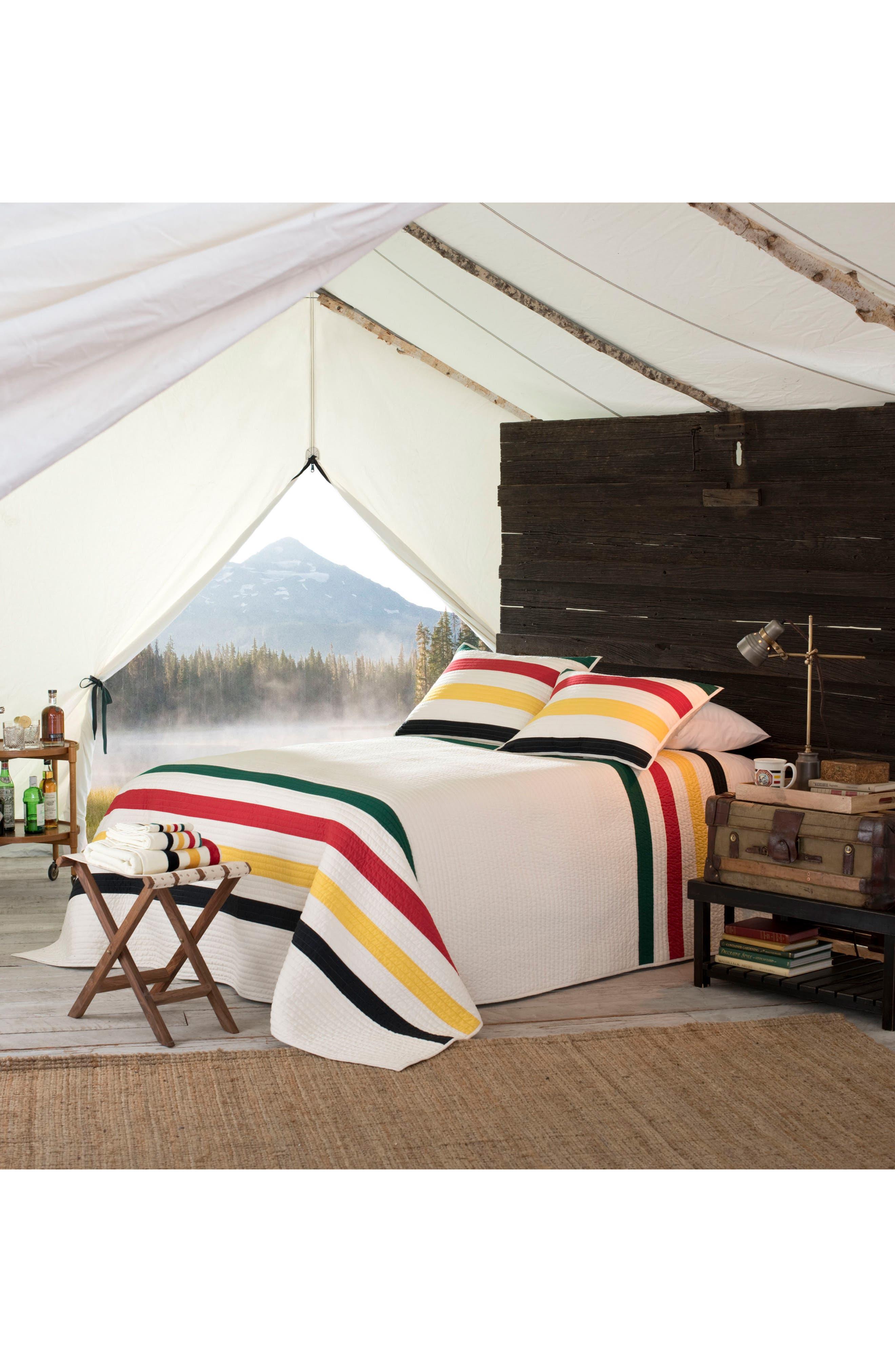 National Park Stripe Quilt & Sham Set,                         Main,                         color, MULTI