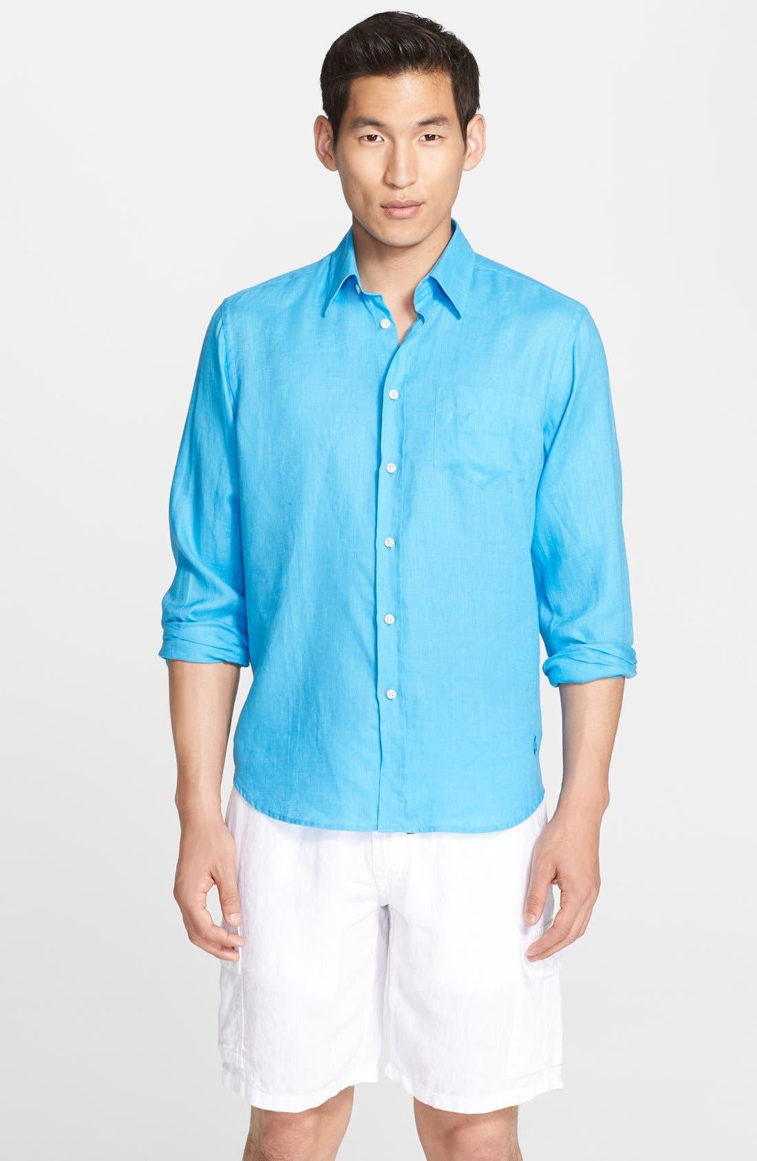 'Caroubier' Linen Shirt,                             Main thumbnail 8, color,