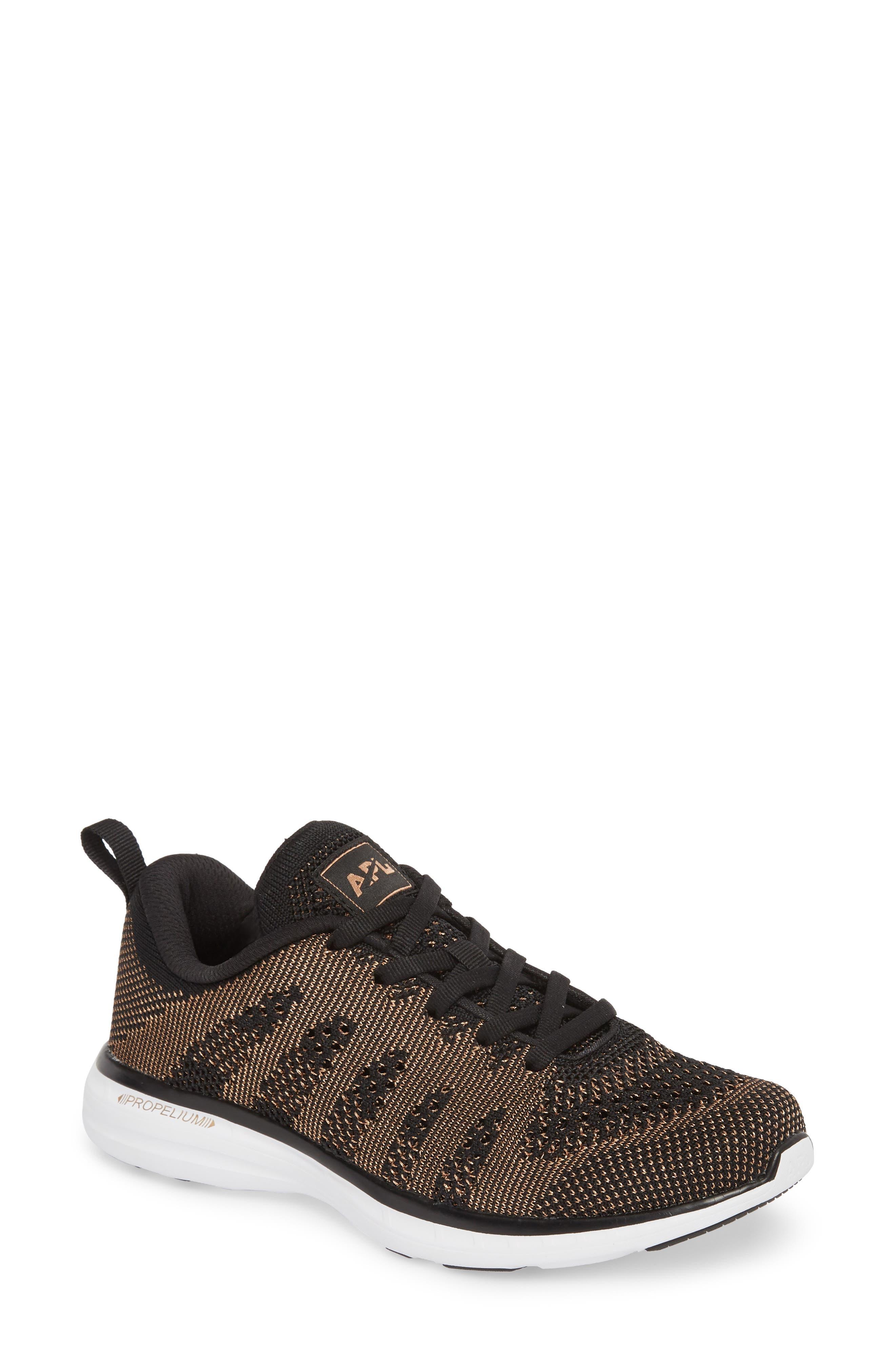'Techloom Pro' Running Shoe,                             Main thumbnail 1, color,                             BLACK/ ROSE GOLD