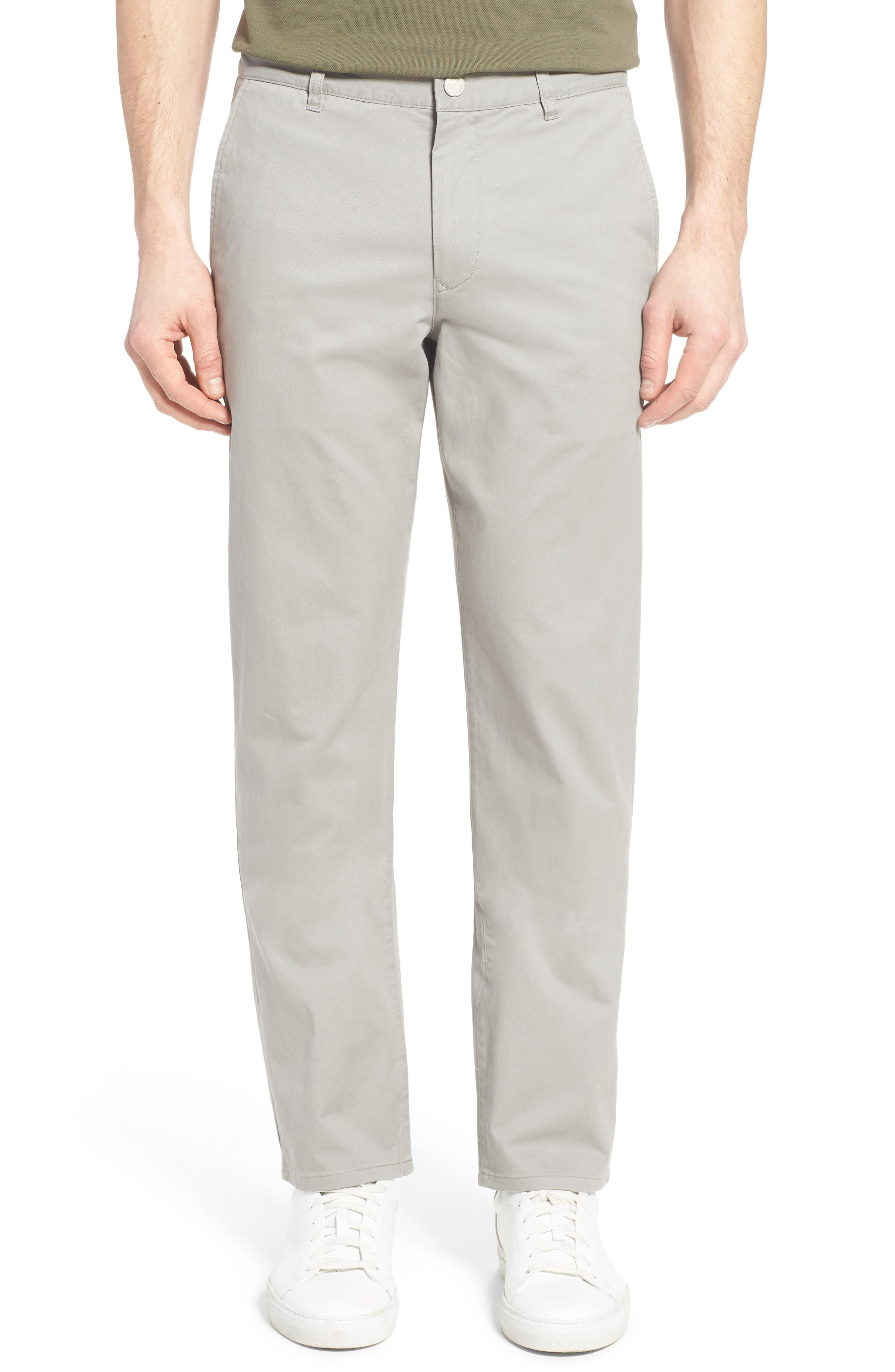 Straight Leg Stretch Chinos,                             Main thumbnail 1, color,                             GREY DOGS