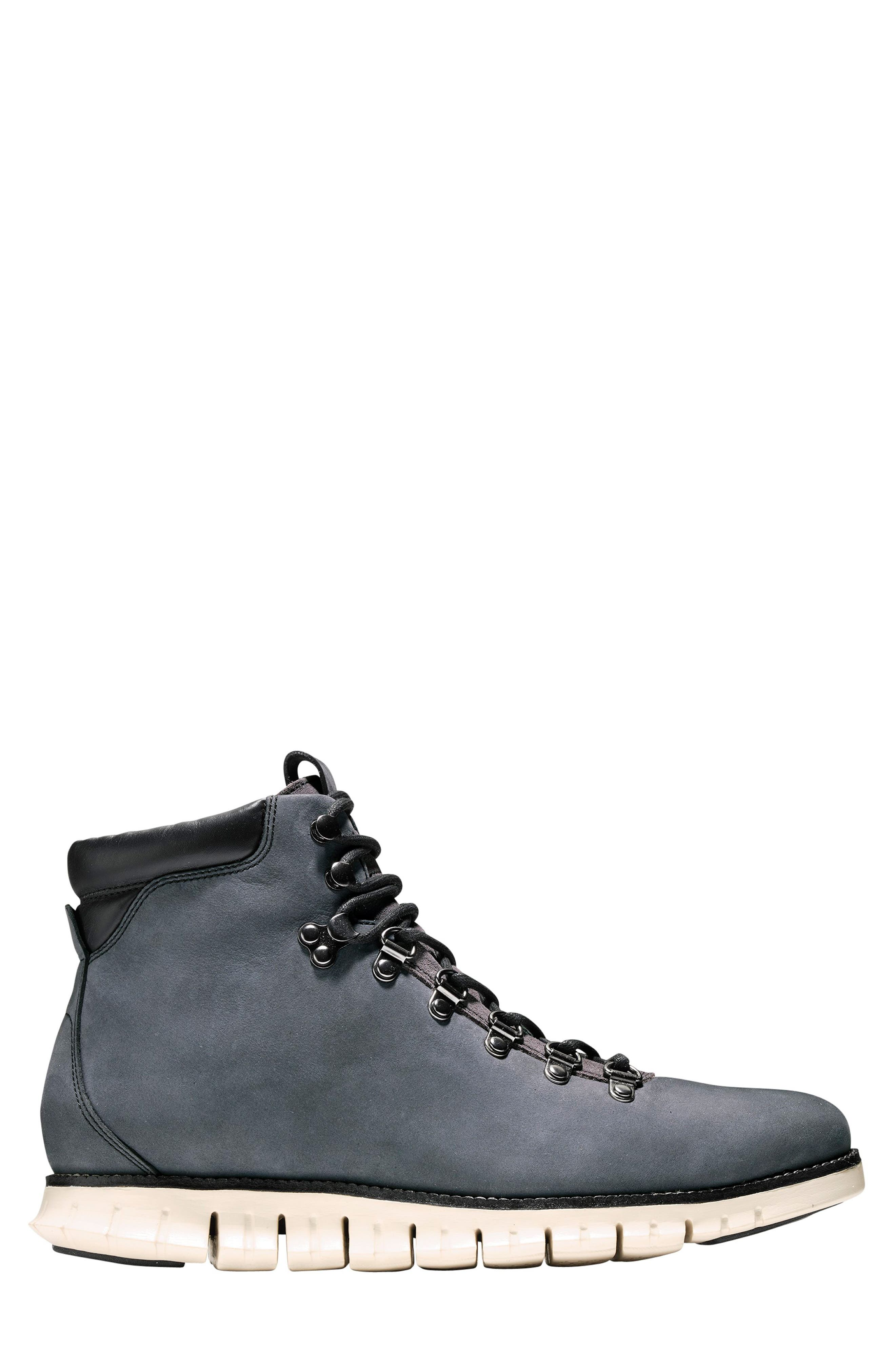 ZeroGrand Water Resistant Hiker Boot,                             Alternate thumbnail 3, color,                             GREY/ IVY LEATHER