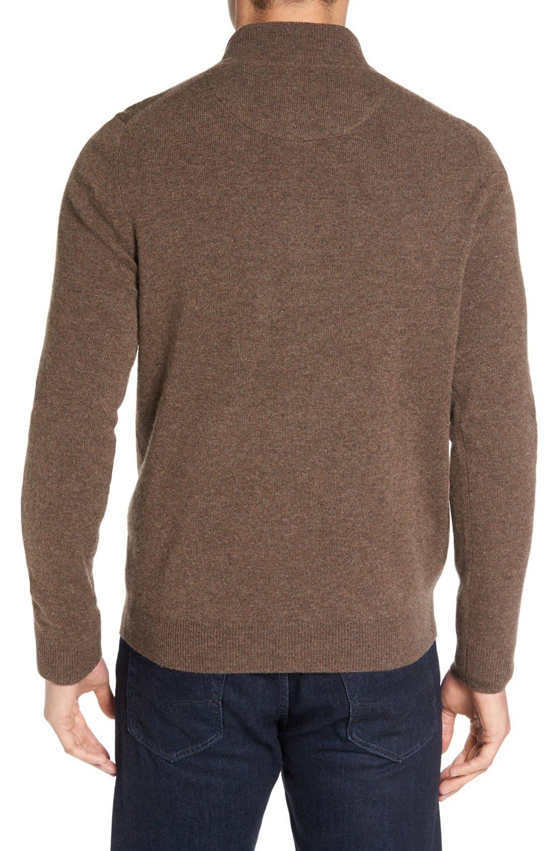 Cashmere Quarter Zip Sweater,                             Alternate thumbnail 18, color,